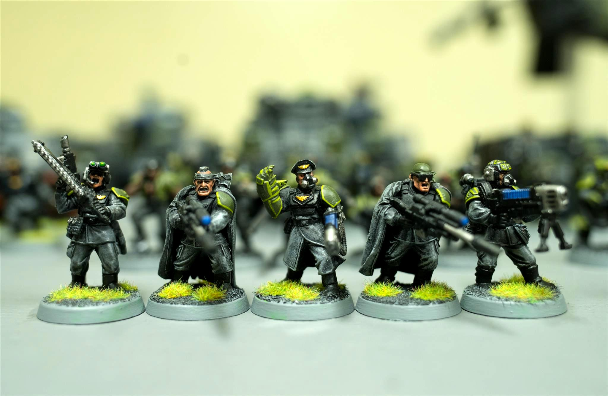 317th Sathanas Hoplites, Astra Militarum, Bodyguard, Colonel, Colonel With Powerfist, Command Squad, Guard, Imp Guard, Imperial Guard, Plasmagunner, Snipers