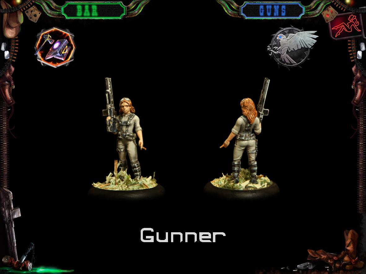 Female, Gunner, Infantry