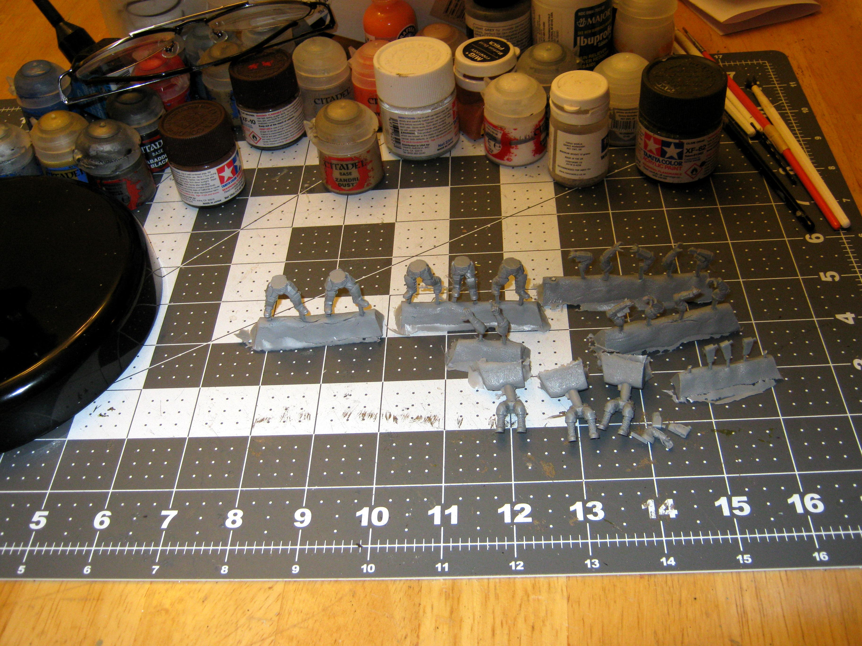 Mad Robot Miniatures, Materials, Modeling, Painting, Supplies