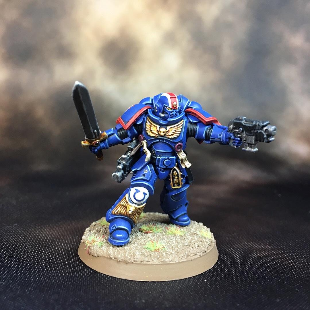 Lieutenant, Space Marines, Ultramarines, Warhammer 40,000