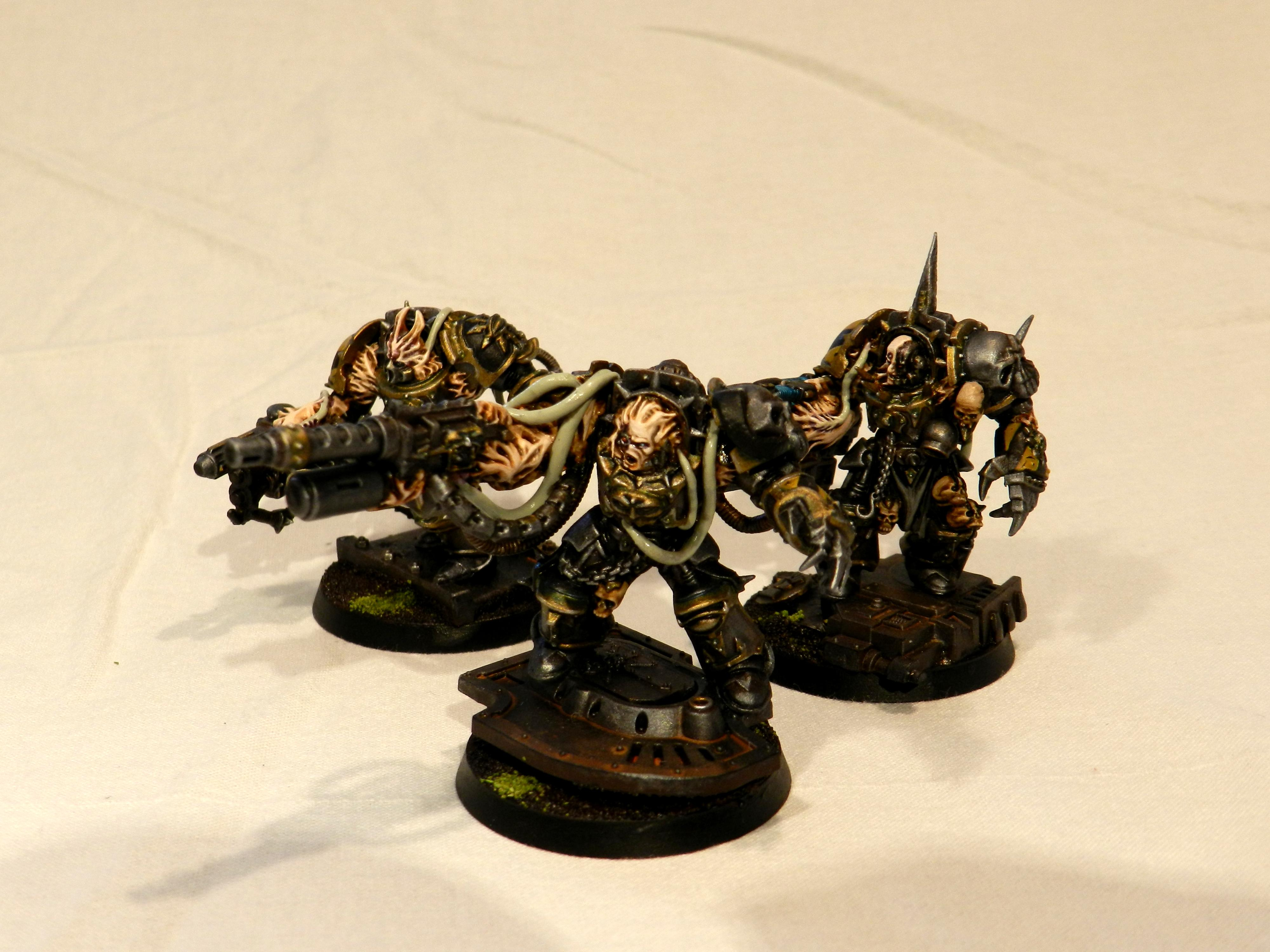 Chaos Space Marines, Daemons, Iron Warriors, Obliterators