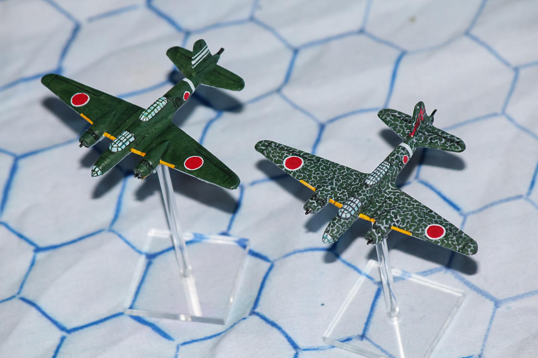 1:300 Scale, 6mm Scale, Air Combat, Airborne, Airplane, Fliers, Imperial Japan, Medium Bomber, World War 2