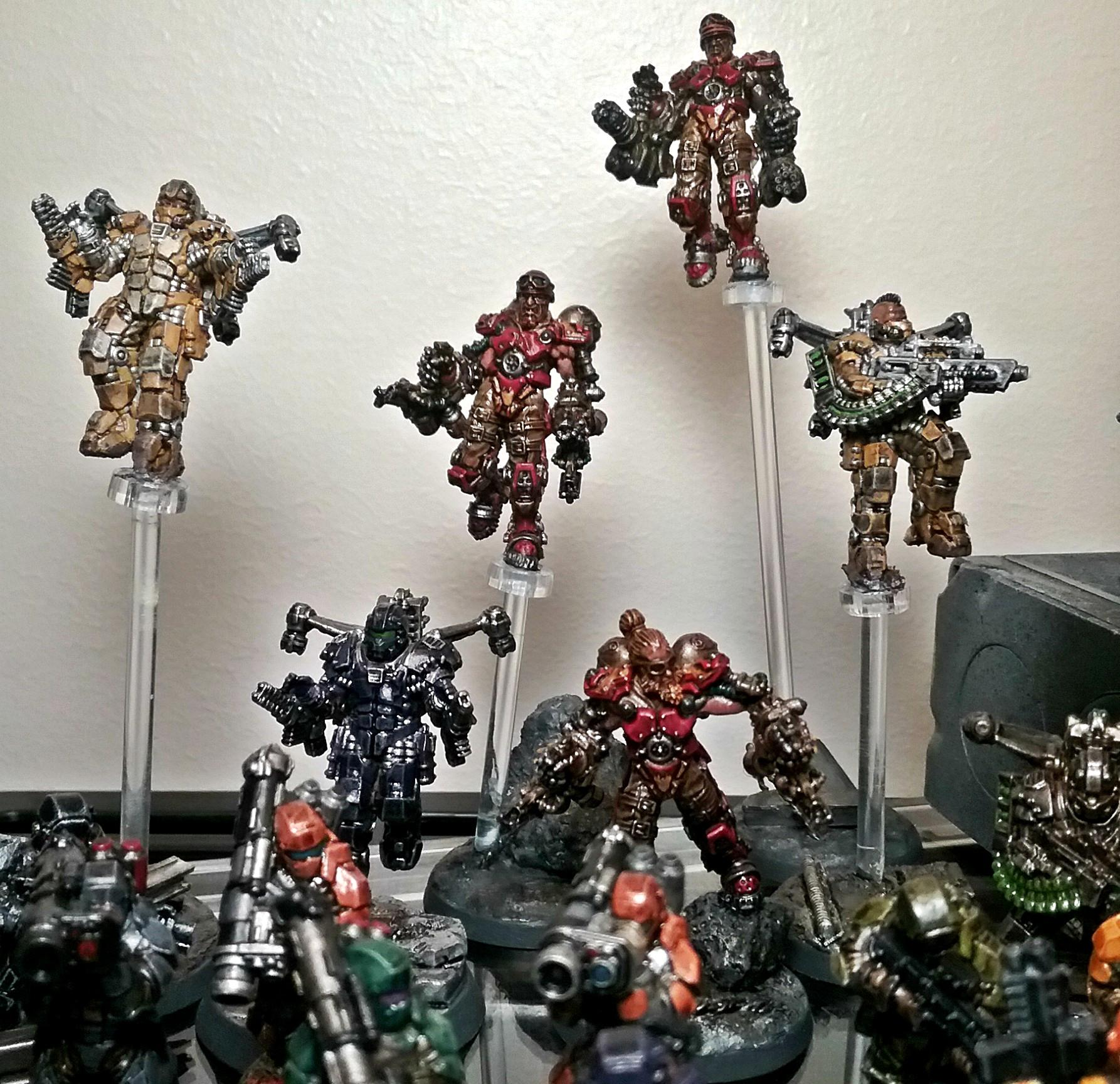 Afterlife, Maxmini, Pulse Mechs, Republic, White Star Exorig Troopers