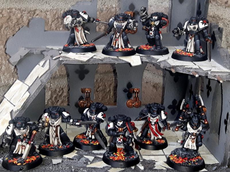Black Templars, Conversion, Crusader, Squad, Warhammer 40,000