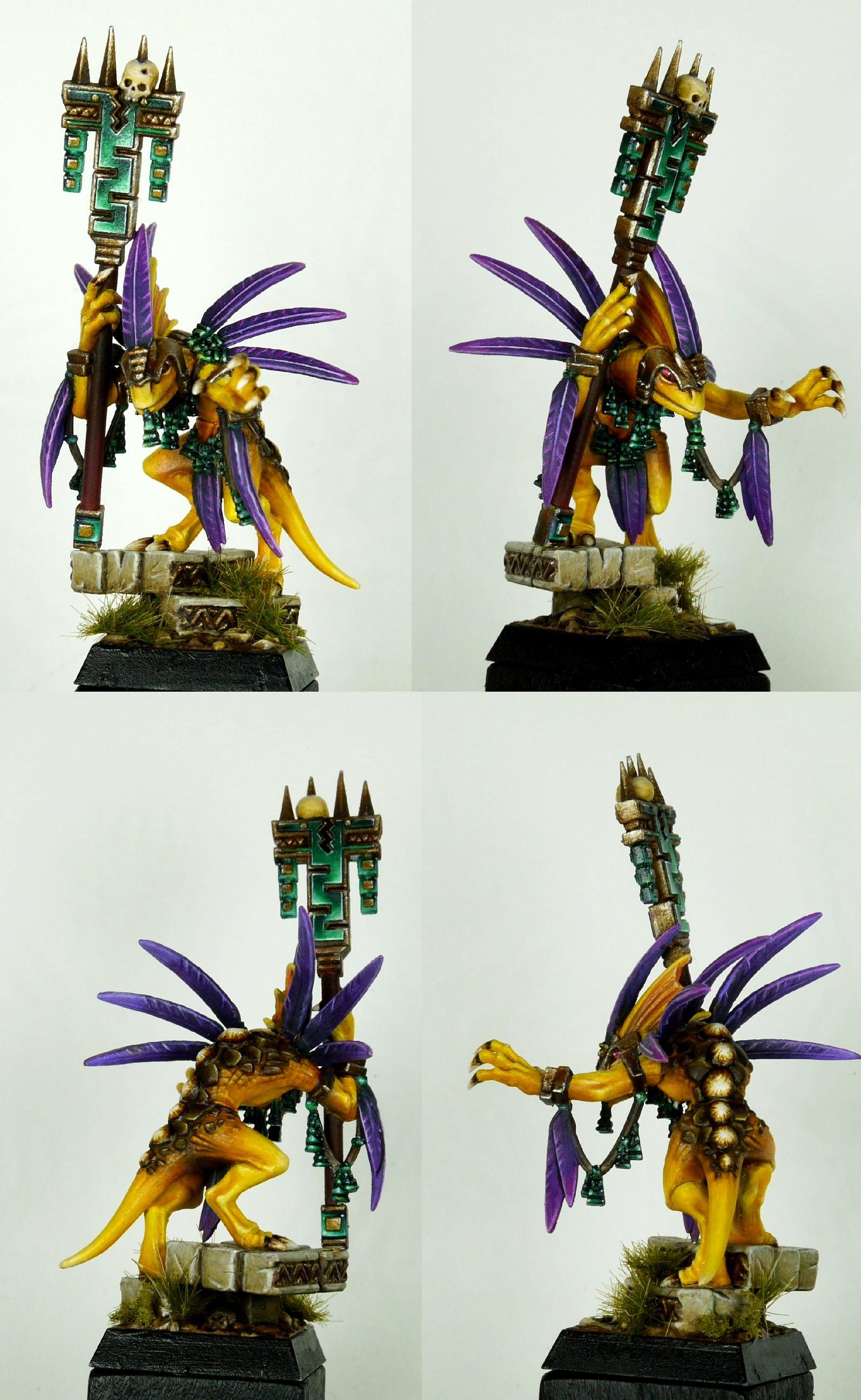 Lizard Priest Skink, Lizardmen, Warhammer Fantasy
