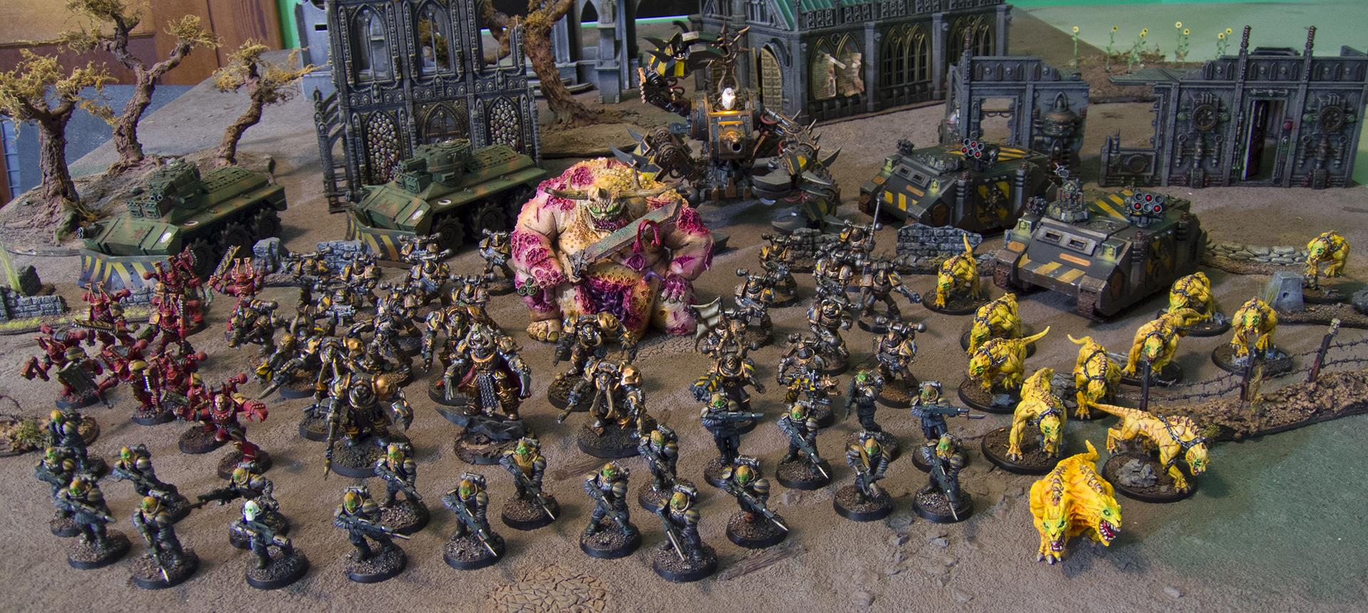 Army, Chaos, Chaos Space Marines, Great Unclean One, Guo, Iron Warriors, Nurgle, Ouze