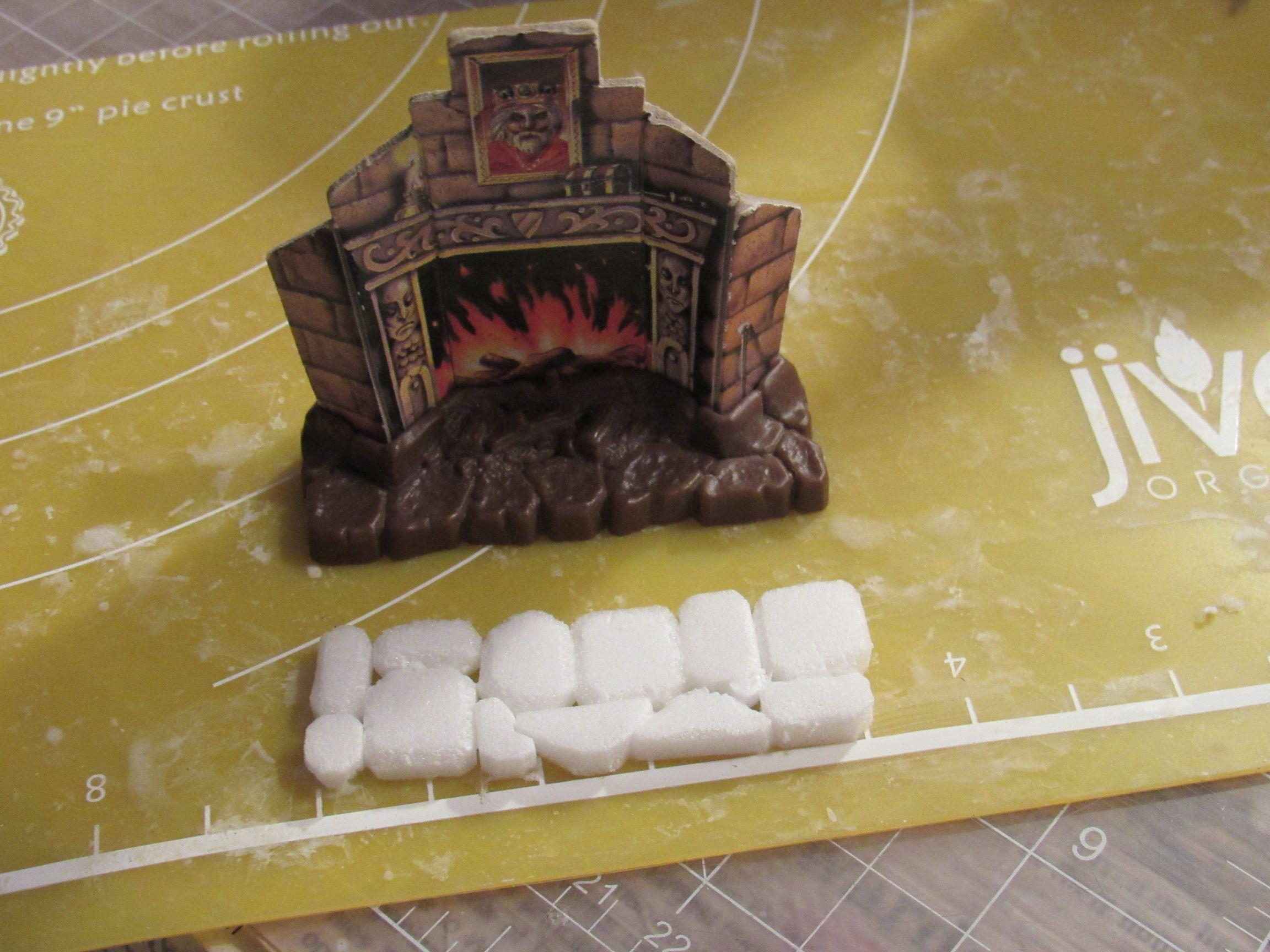 fireplace base