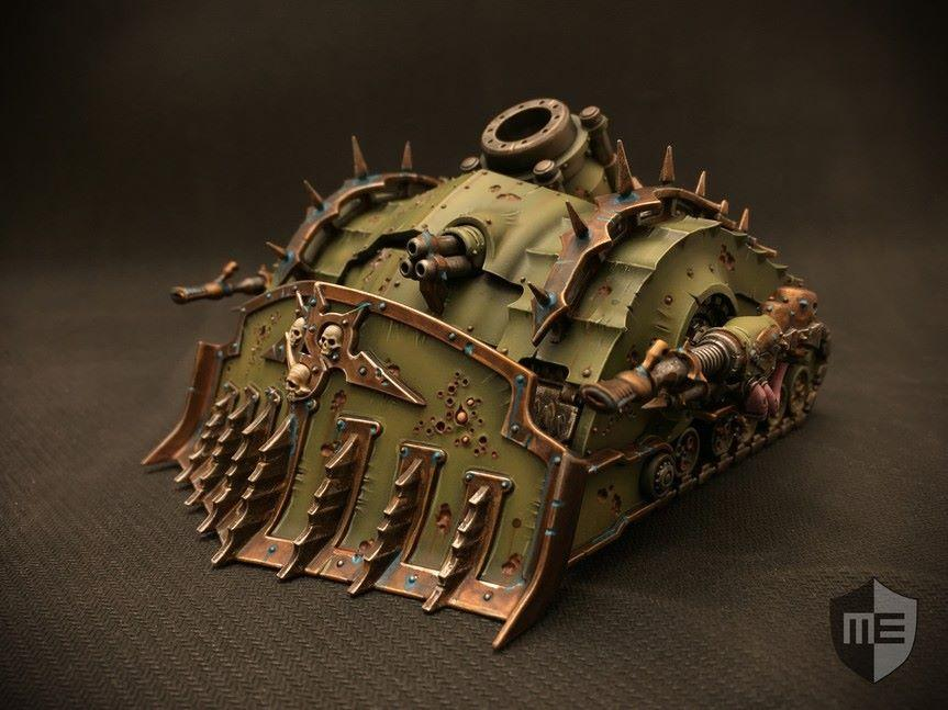 Artillery, Chaos, Death Guard, Plagueburst Crawler, Pro-painted, Tank
