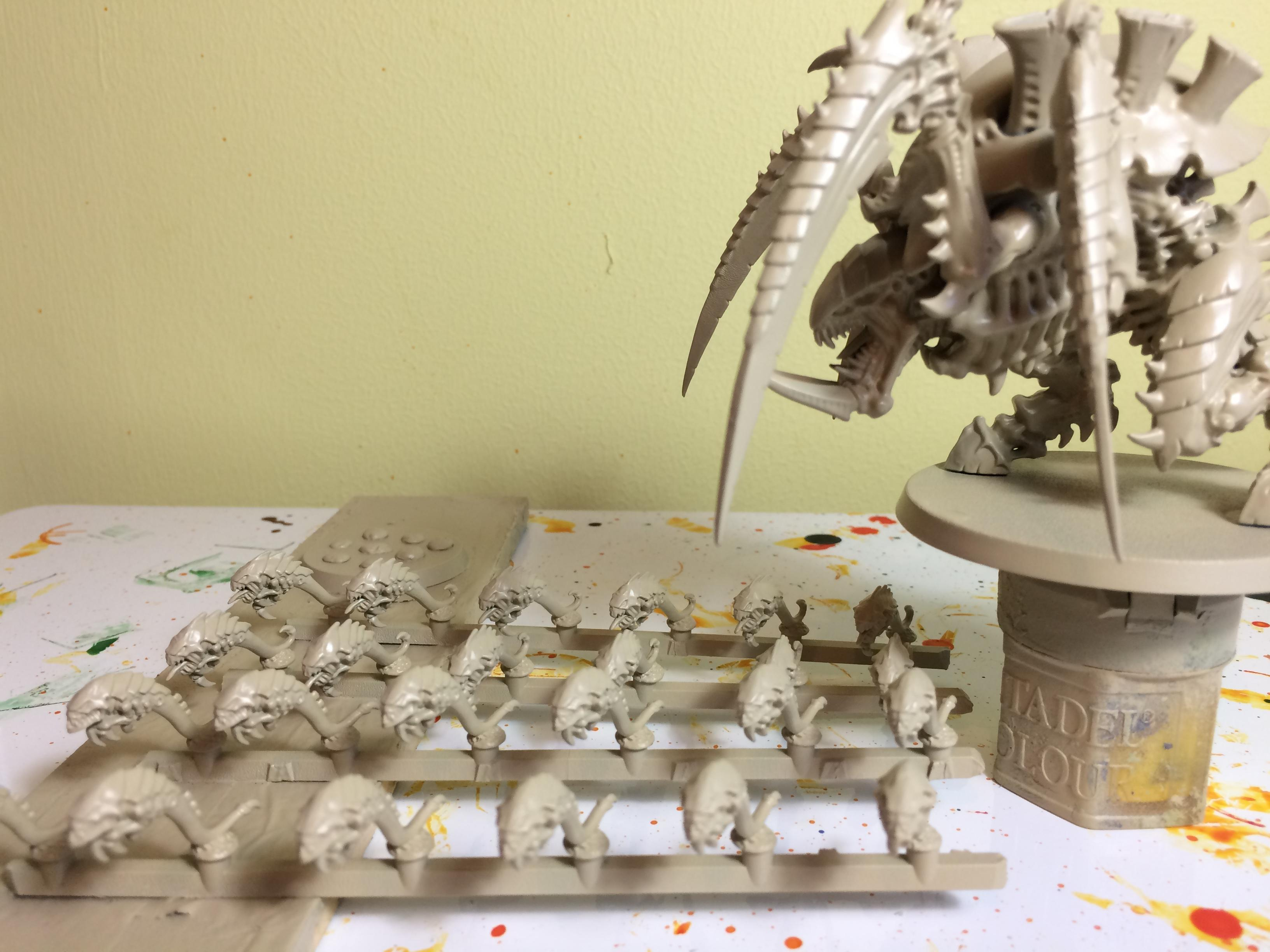 Carnifex, Ripper Swarm, Skeleton Bone, The Army Painter, Tyranids