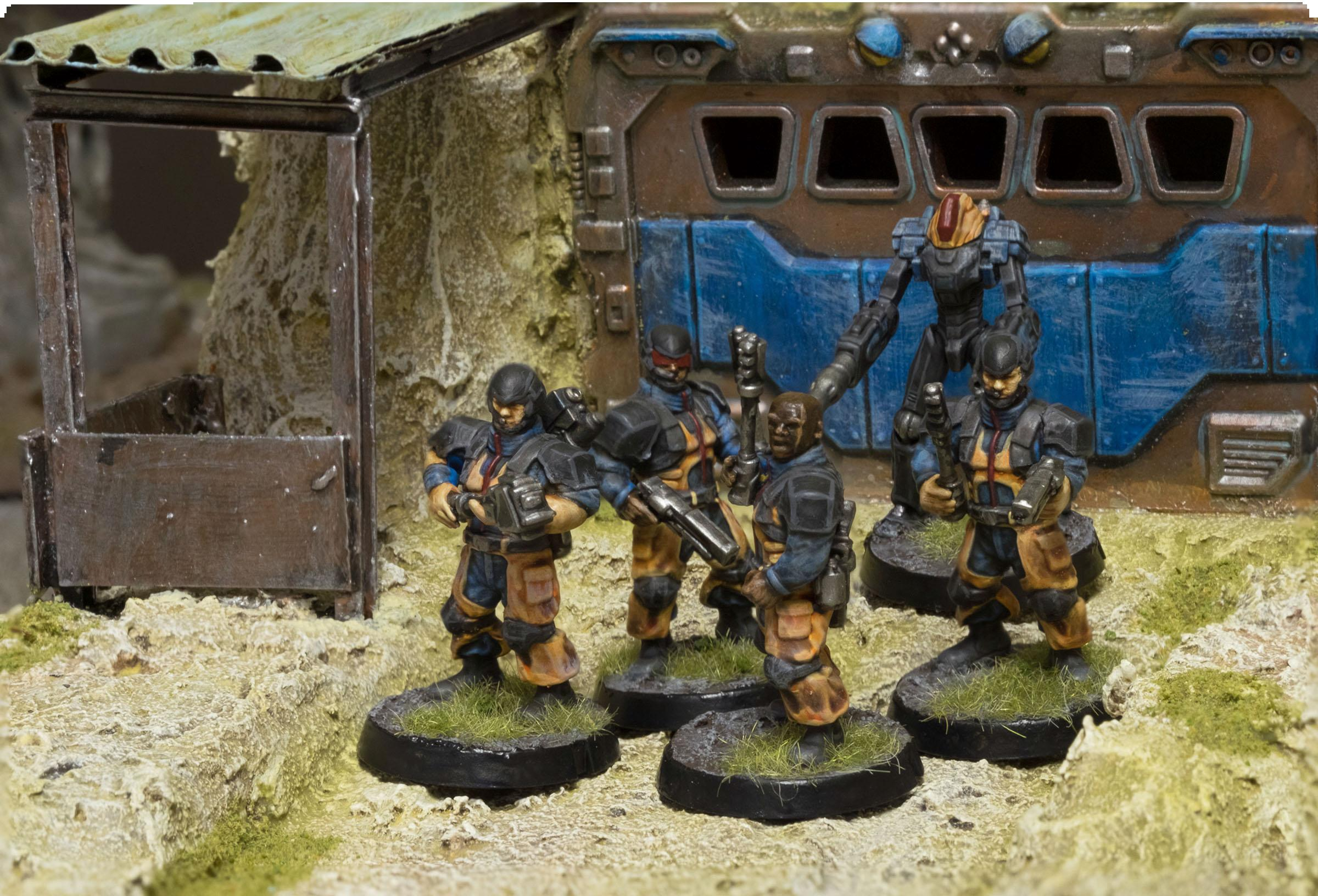 Burnbot, Contractor, Epirian, Maelstrom's Edge, Outpost, Subjugator, Suppresion Team, Terrain