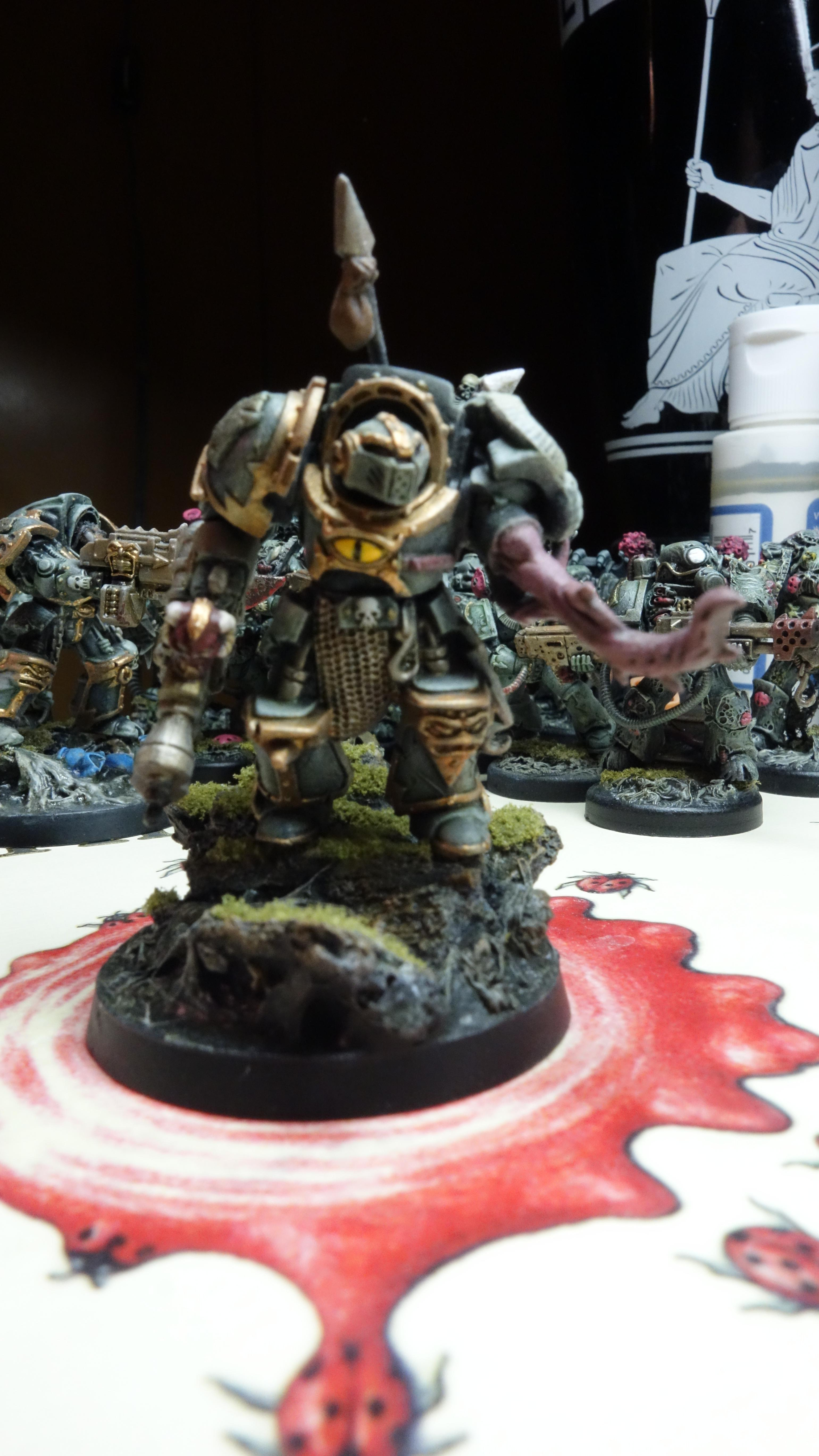 Chaos, Chaos Space Marines, Nurgle, Protectorate Of Menoth, Space Marines, Warhammer 40,000, Warjack, Warmachine