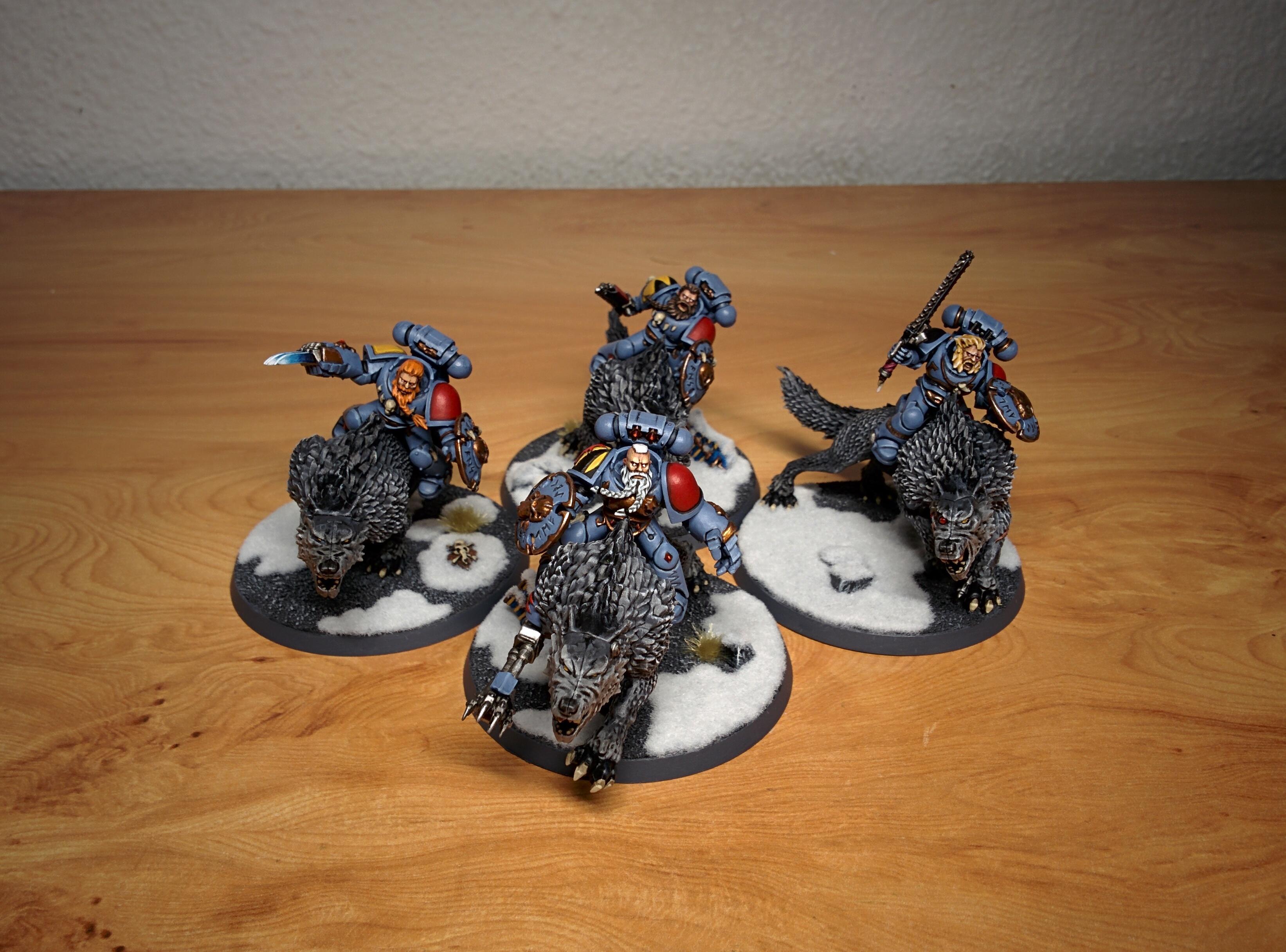 Cavalry, Citadel, Deathwolves, Fenris, Games Workshop, Miniature, Miniatures, Snow, Space Wolves, Thunderwolf, Thunderwolf Cavalry, W40k, Warhammer 40,000, Warhammer Fantasy, Wolves