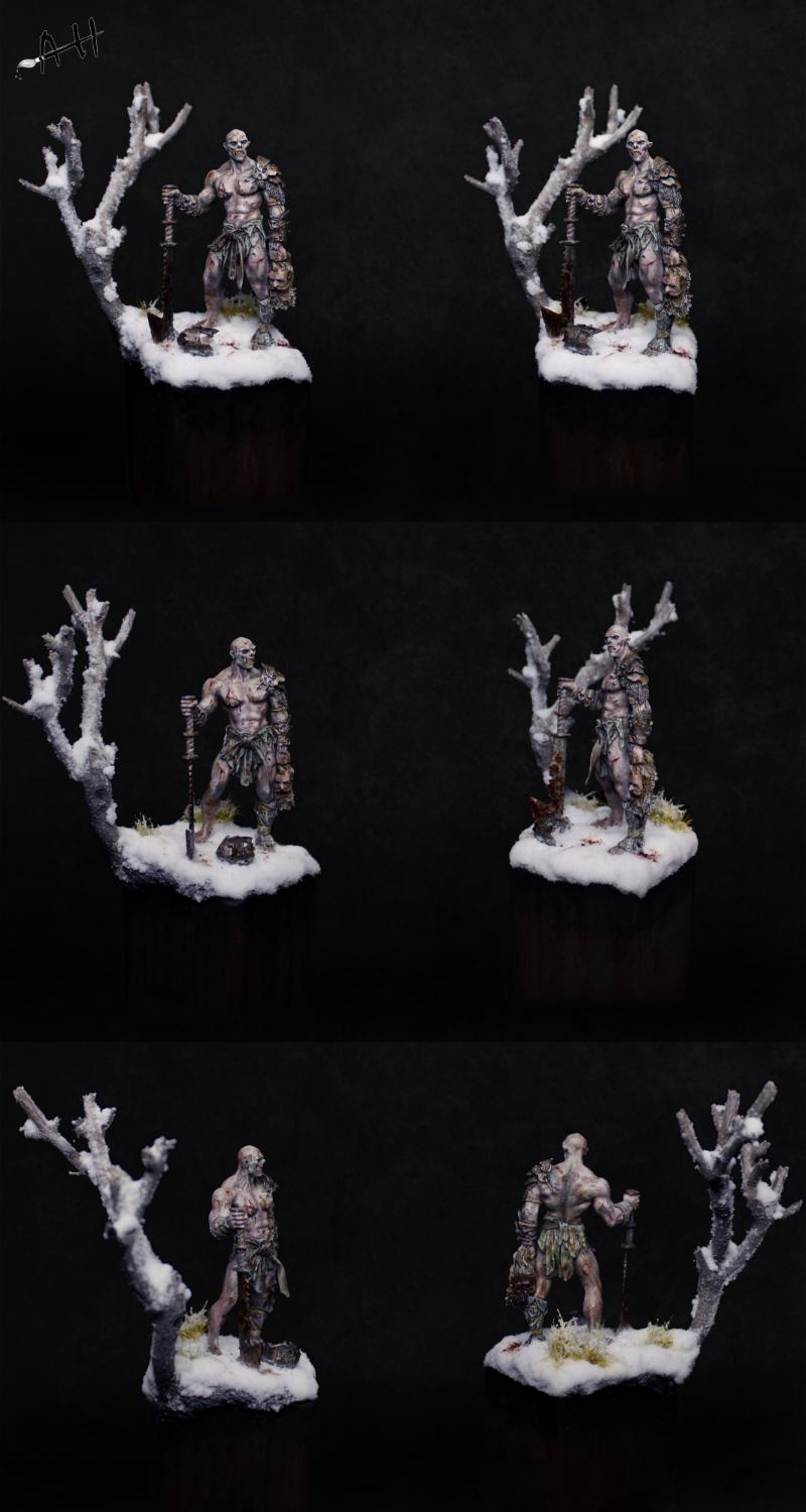 54mm, Ogres, Pegaso Models, Pro-painted, Snow