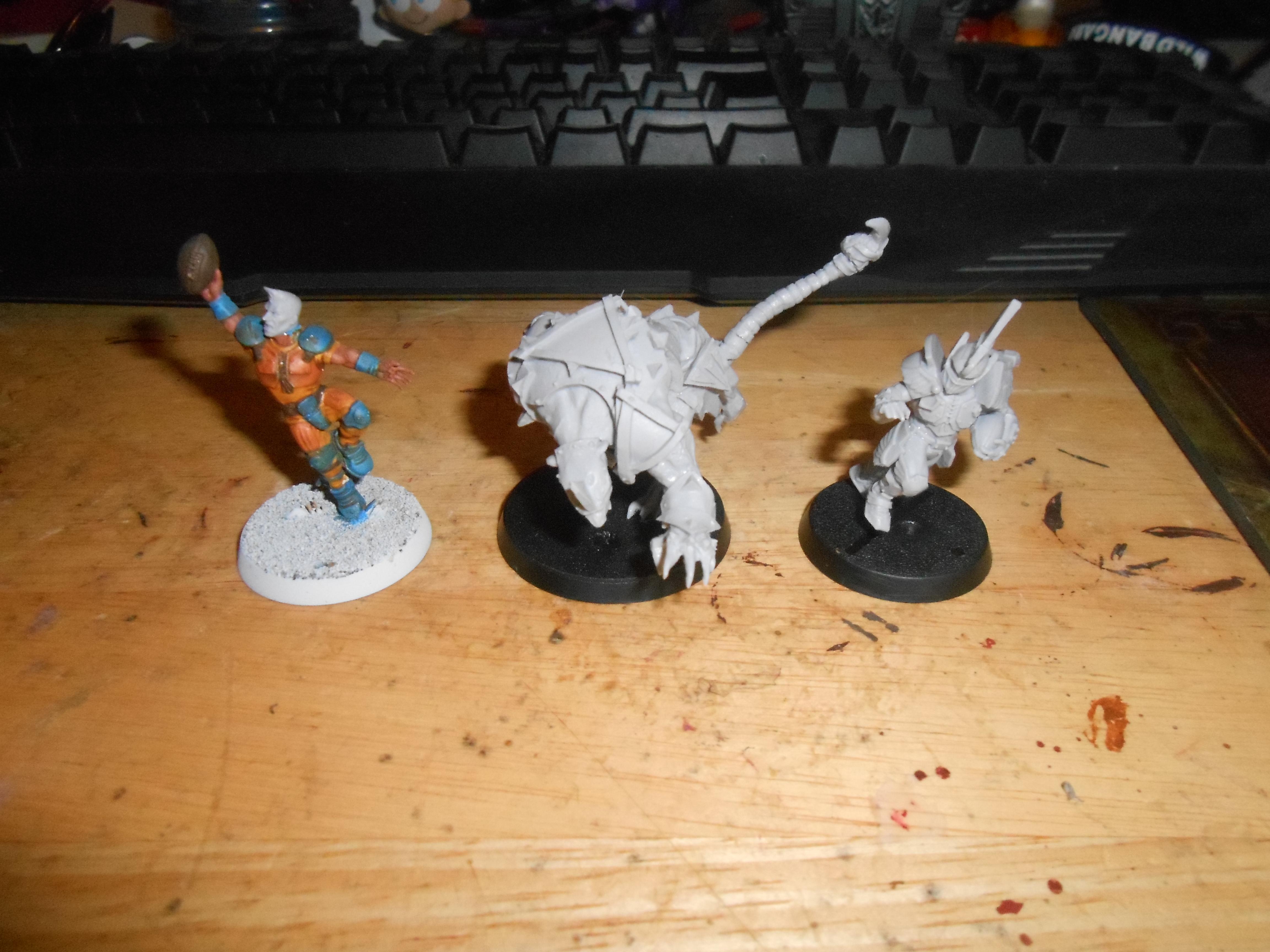 Blood Bowl Griff, Rat Ogre and Surehanded