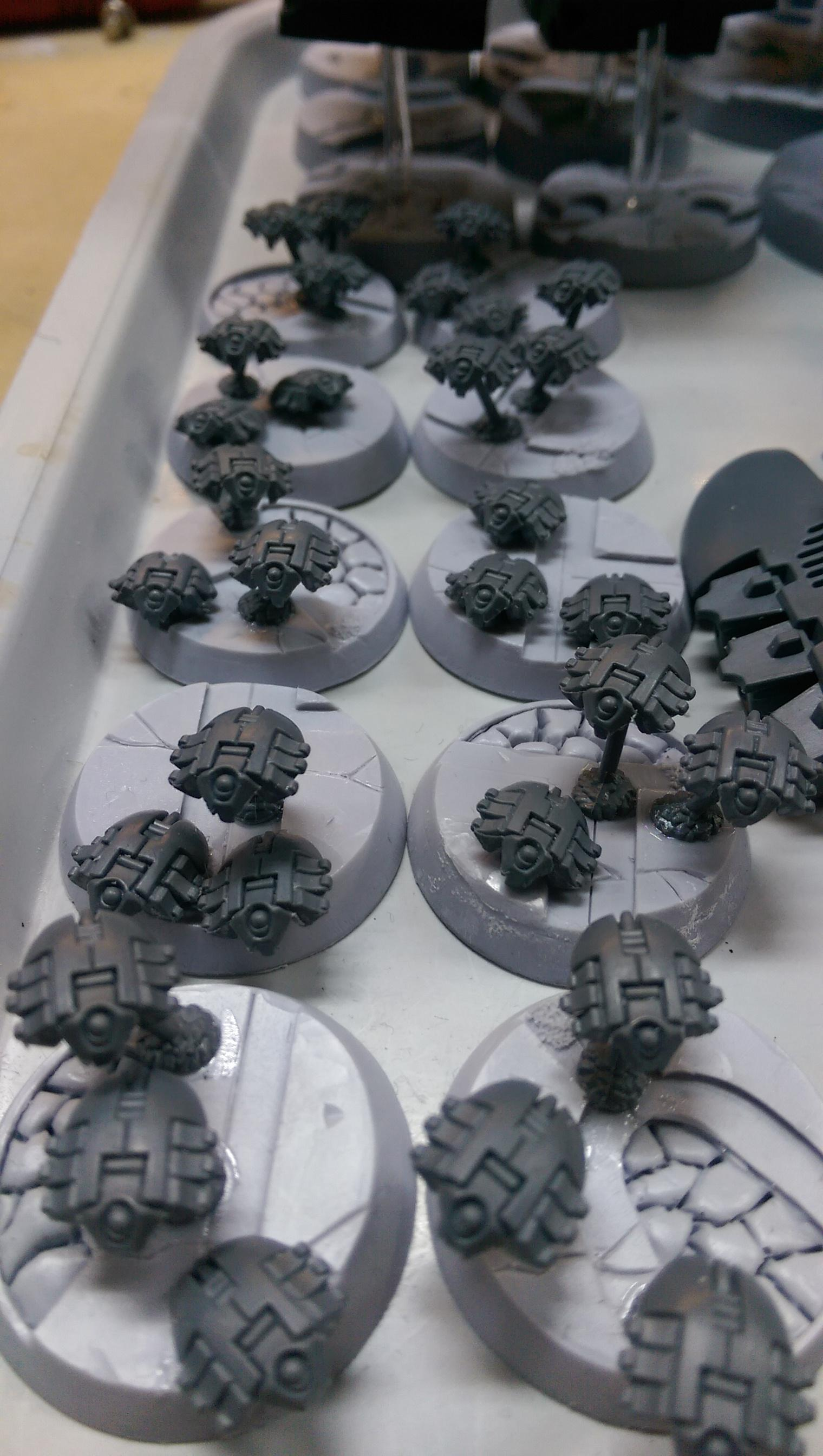 Assembly, Base, Necrons, Phlanax, Warhammer 40,000, Work In Progress