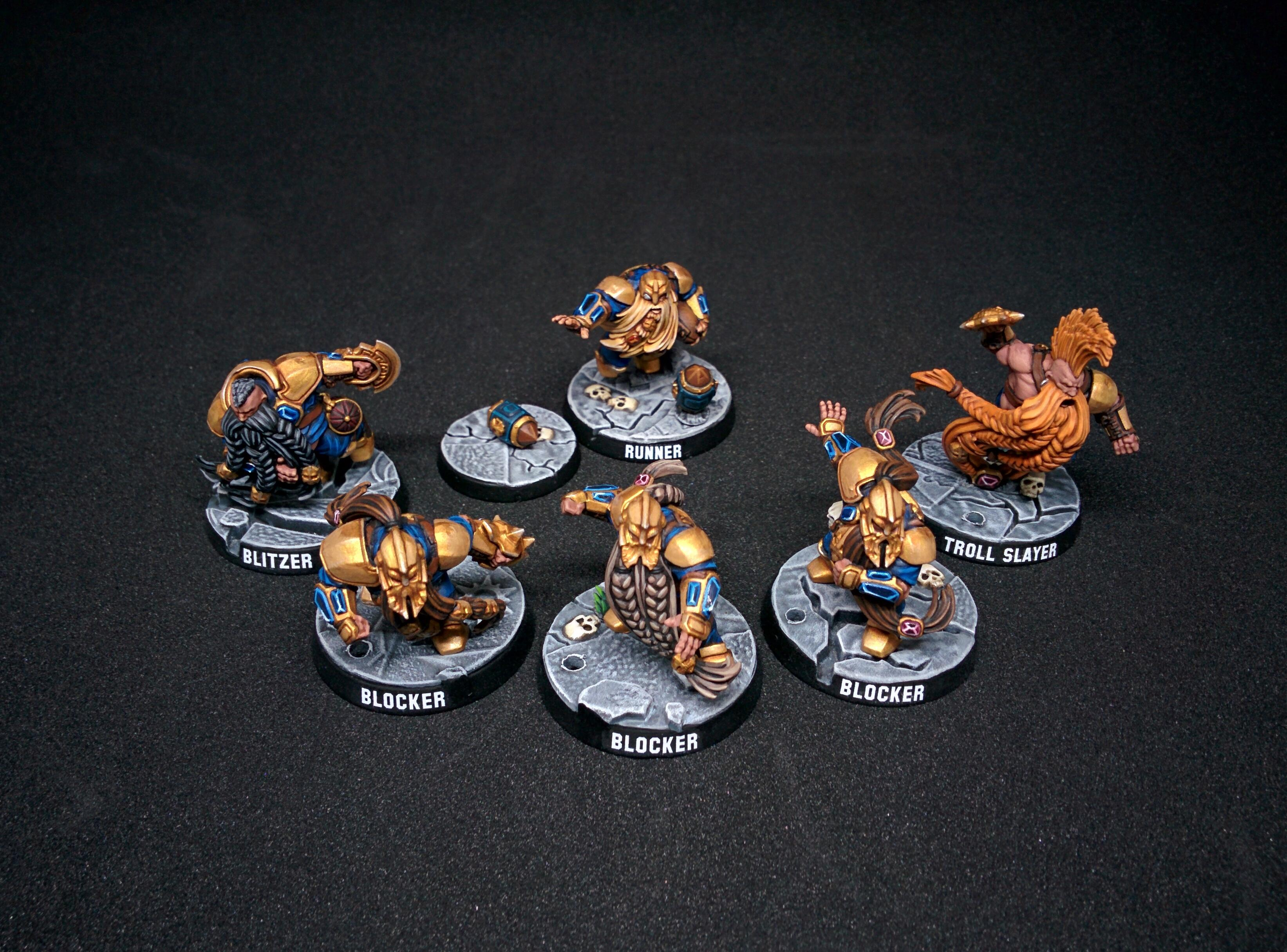 Blizter, Blocker, Blood Bowl, Citadel, Dwarf Giants, Dwarves, Fantasy Football, Games Workshop, Miniatures, Runner, Troll Slayer, Warhammer Fantasy