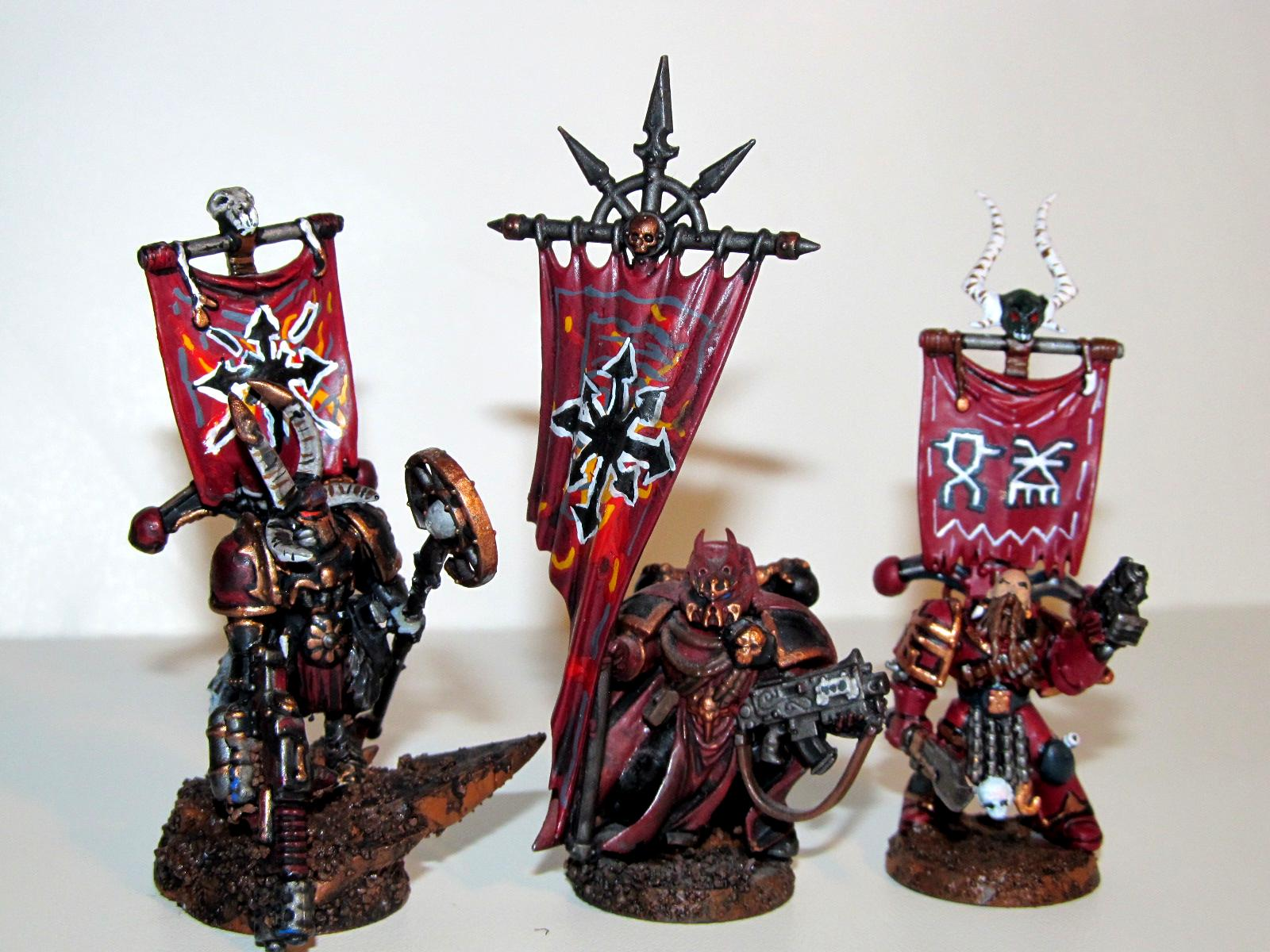 Banner, Champion, Chaos, Chaos Space Marines, Chaoslord, Heretix, Sorcerer