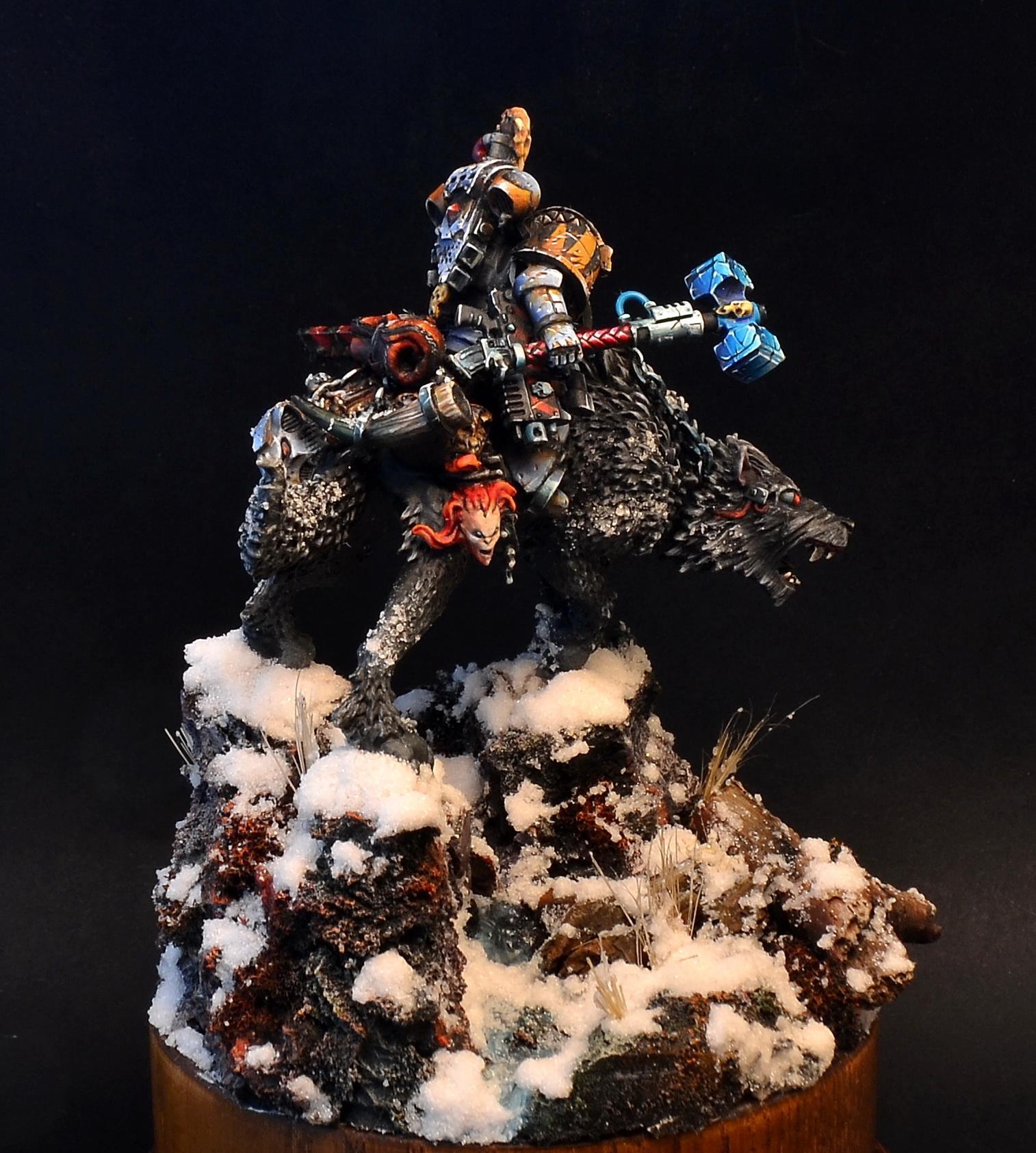 Rider, Snow, Space Marines, Space Wolves, Warhammer 40,000, Warhammer Fantasy, Wolf, Wolf Ride