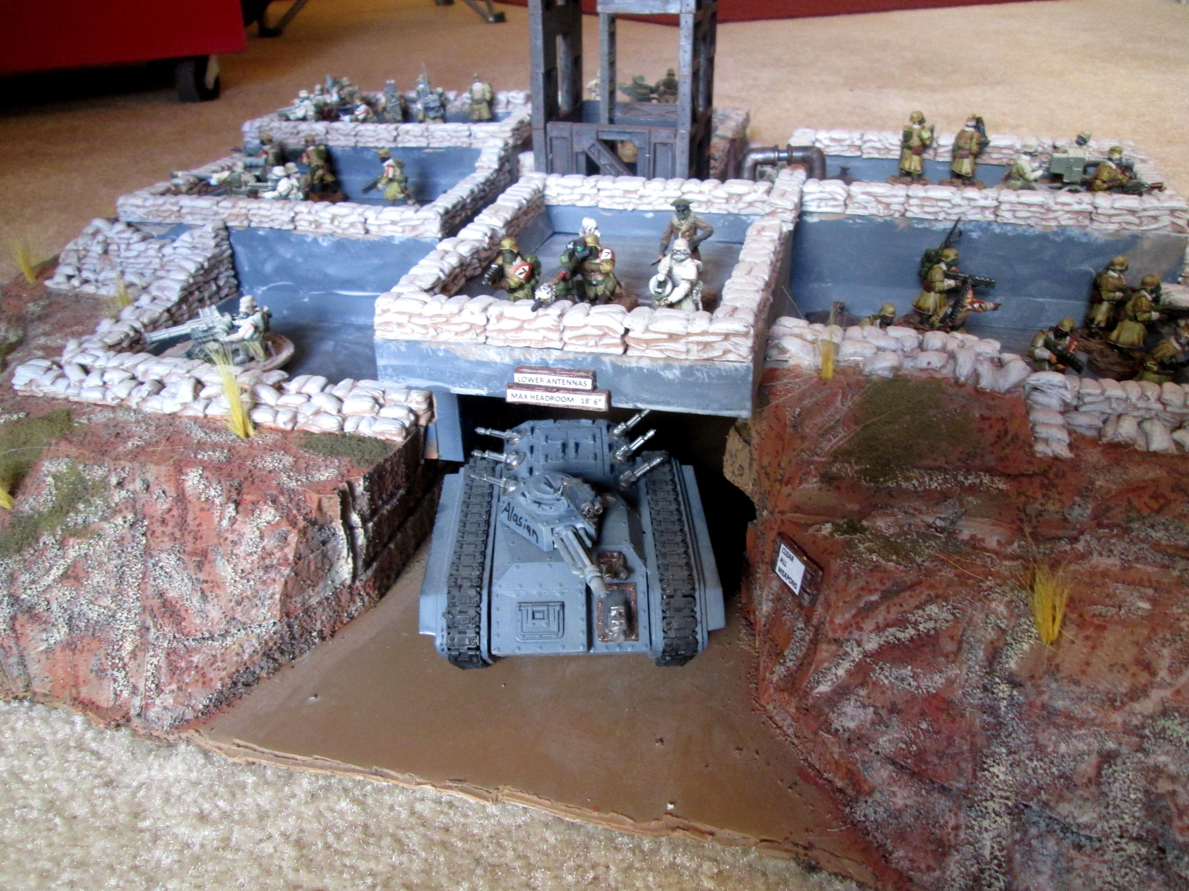 Aegis Line, Firebase, Imperial Guard, Scratch Build