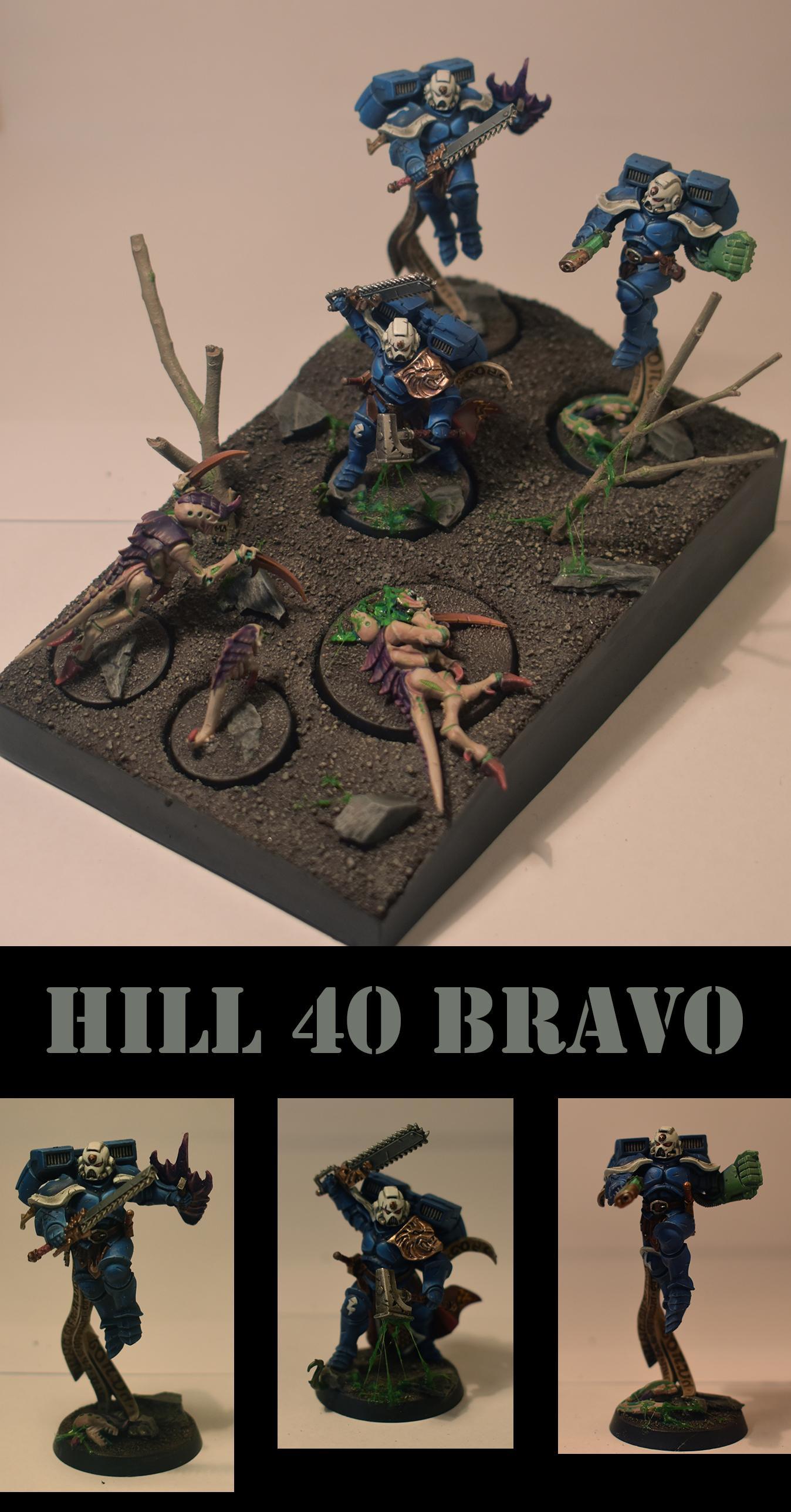 Conversion, Diorama, Hunter, Sigmarines, Space Marines, Tyranids, Ultramarines