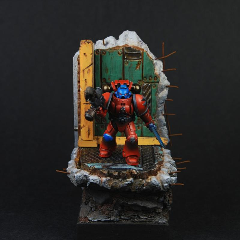 Base, Captain, Display, Space Marines