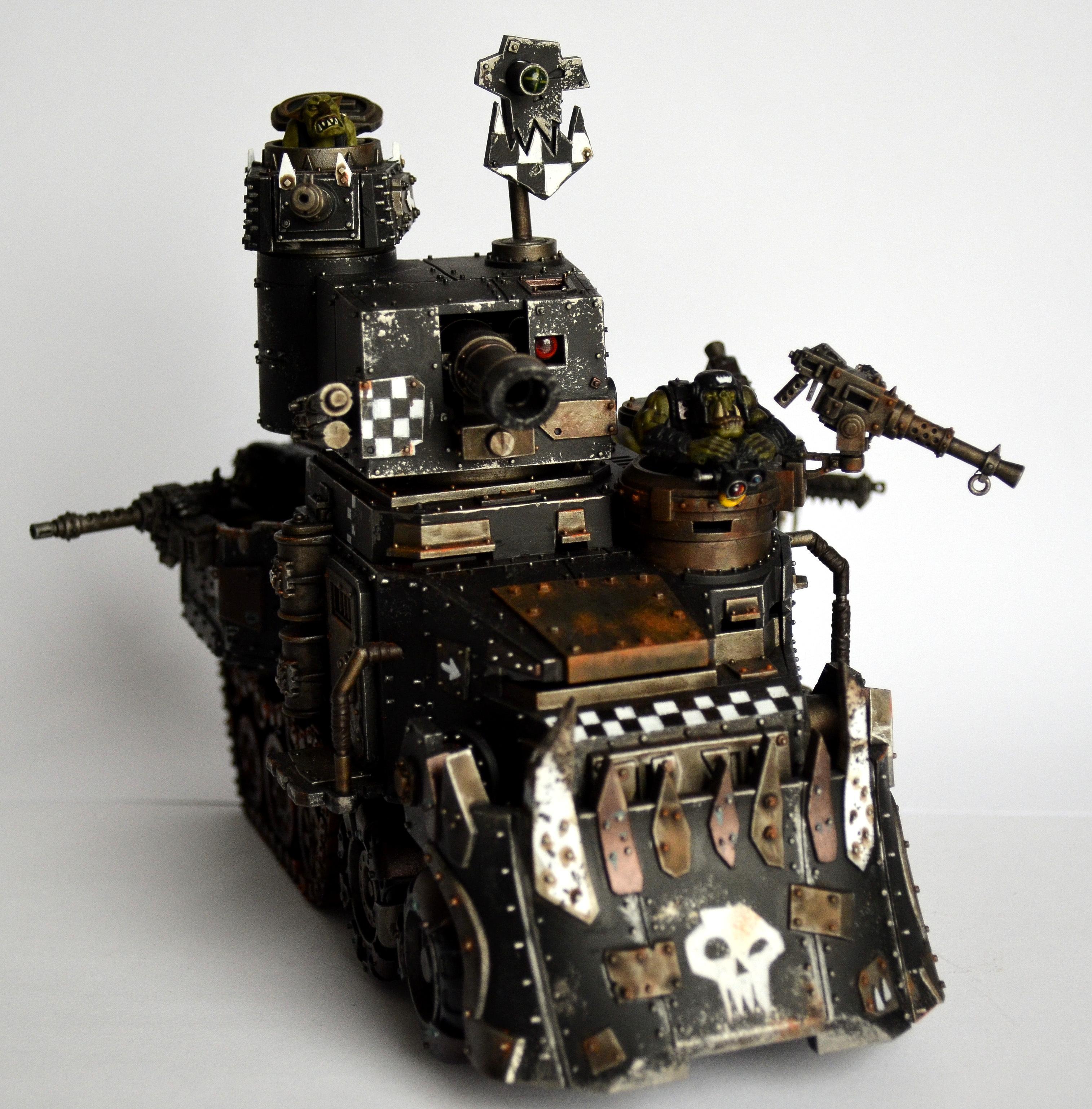 Dark, Goff, Goffs, Grim, Industrial, Mega Armor, Orks, Power Klaw, Realistic, Waaagh! Cheques, Warboss, Warhammer 40,000