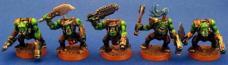 Captain Brown, Gretchin, Ork Boyz, Orks, Waaagh
