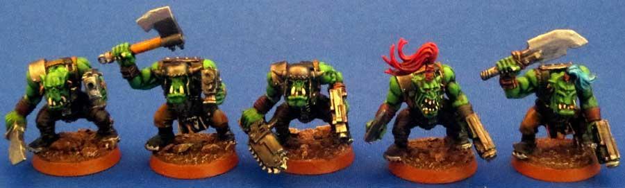 Captain Brown, Gretchin, Ork Boyz, Orks, Waaagh