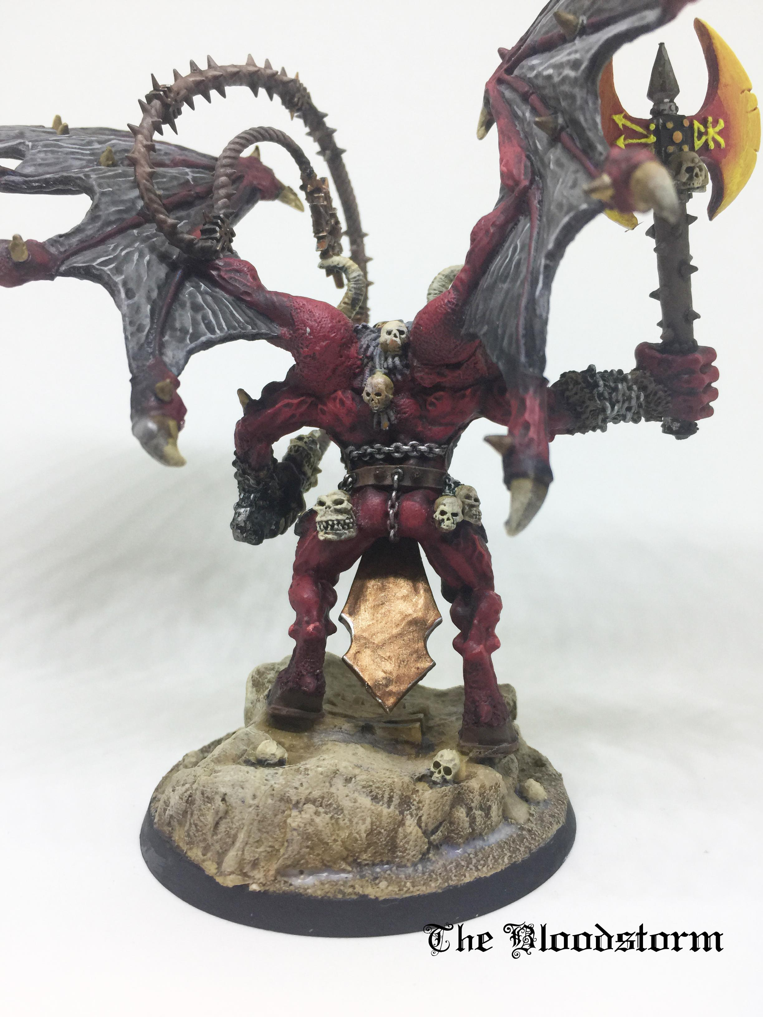 Age Of Sigmar, Axe Of Khorne, Bloodthirster, Chaos Daemons, Demonkin, Greater Daemon, Khorne, Unfettered Fury, Warhammer 40,000