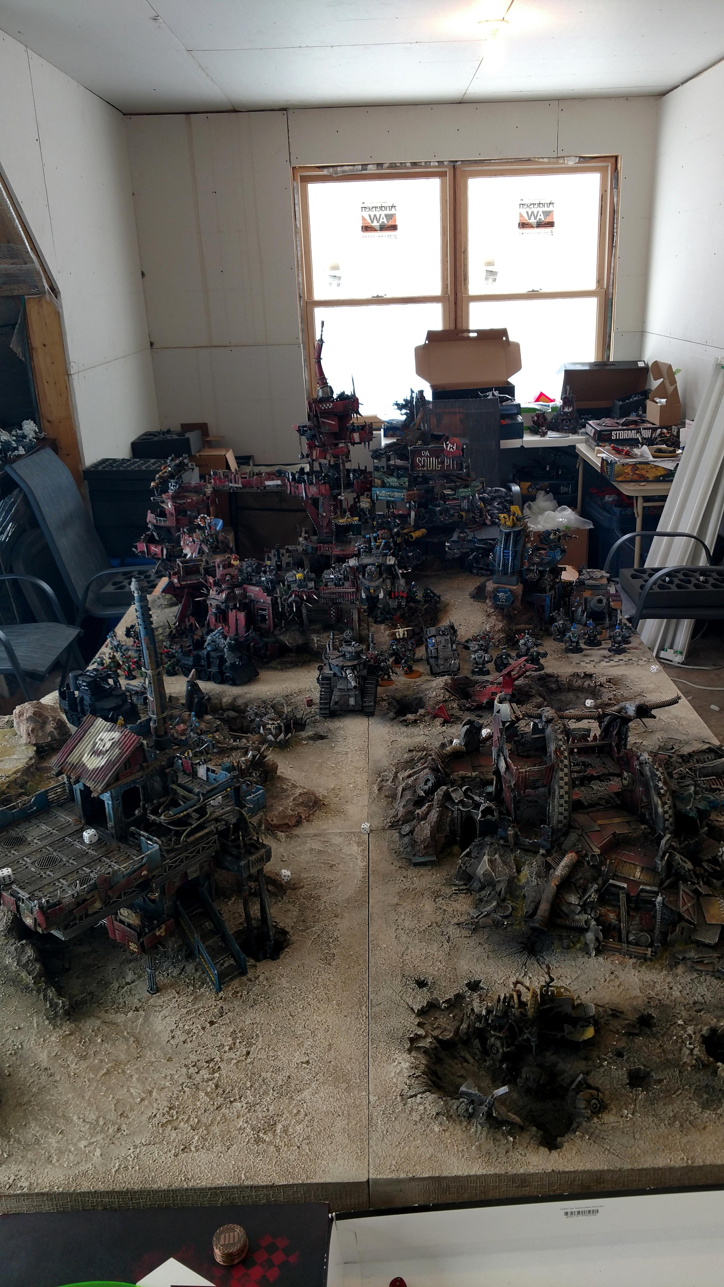 Base, Board, Conversion, Fort, Fortification, Fortress, Game Table, Greenskins, Junk, Junkyard, Orks, Plasticard, Realm Of Battle, Scrap, Scrapyard, Stronghold, Terrain, Warhammer 40,000