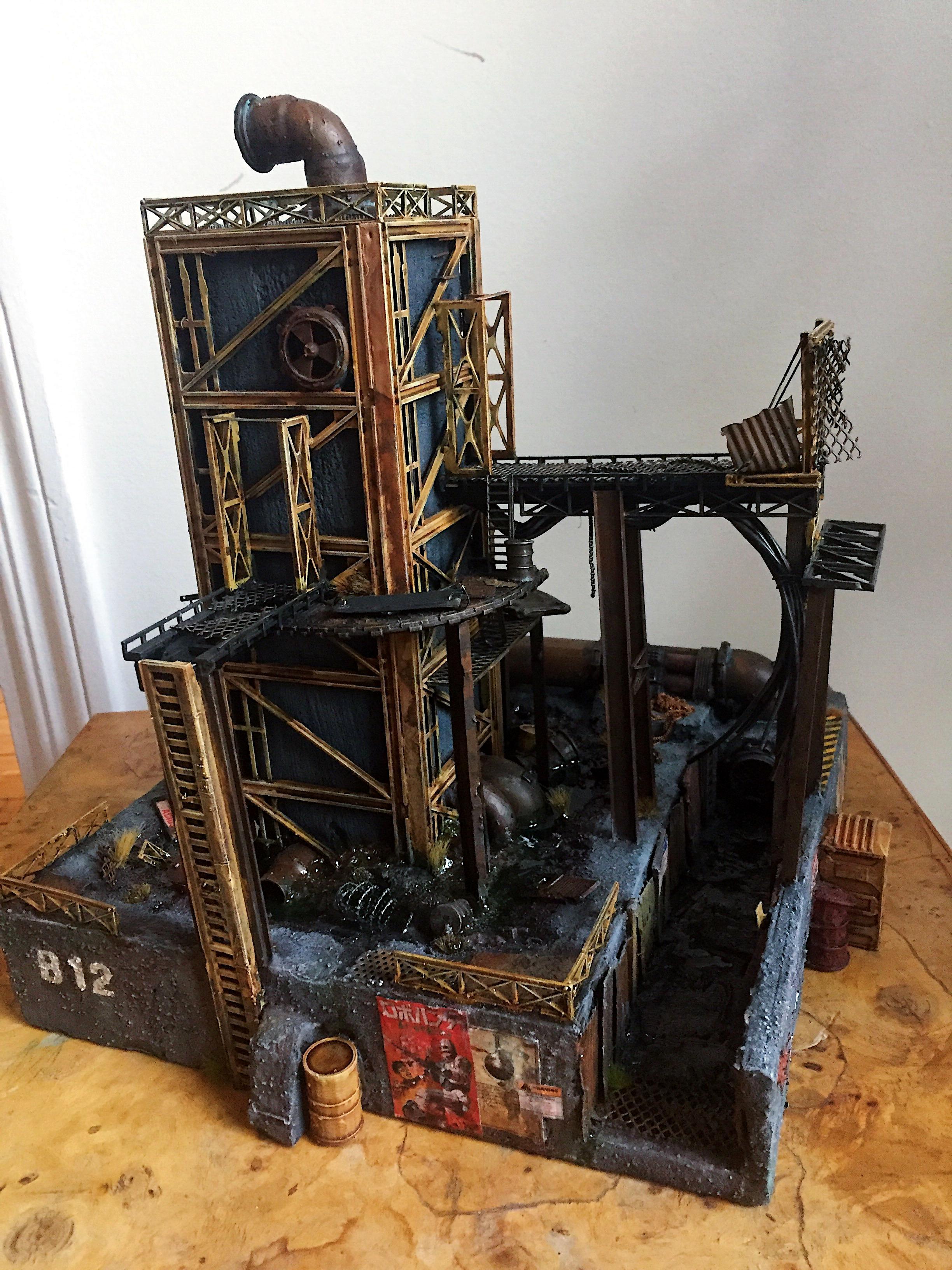 Inq28, Inquisimunda, Necromunda, Necromunda Scenery, Necromunda Terrain, Necromunda Tower, Terrain, Warhammer 40,000