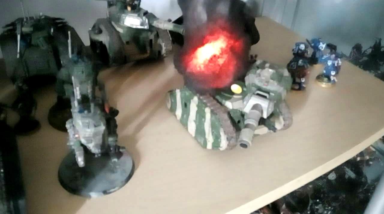 Explosions Fire, Smoke Screen