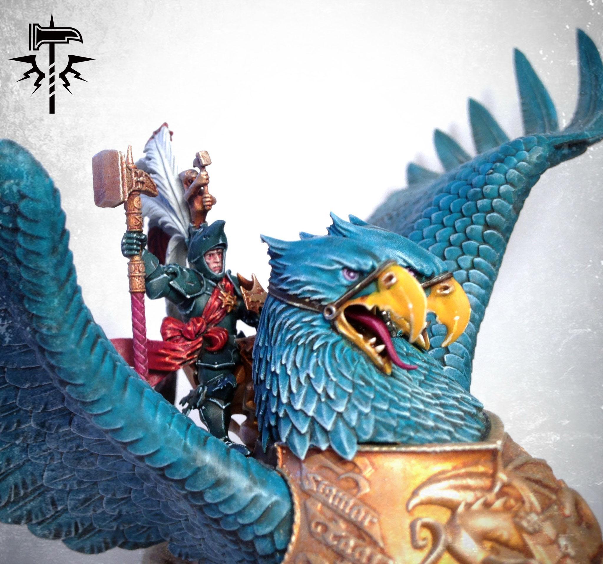 Age Of Sigmar, Behemoth, Empire, Freeguild, Ghal Maraz, Griffon, Karl Franz, Monster, Teal, Warhammer Fantasy