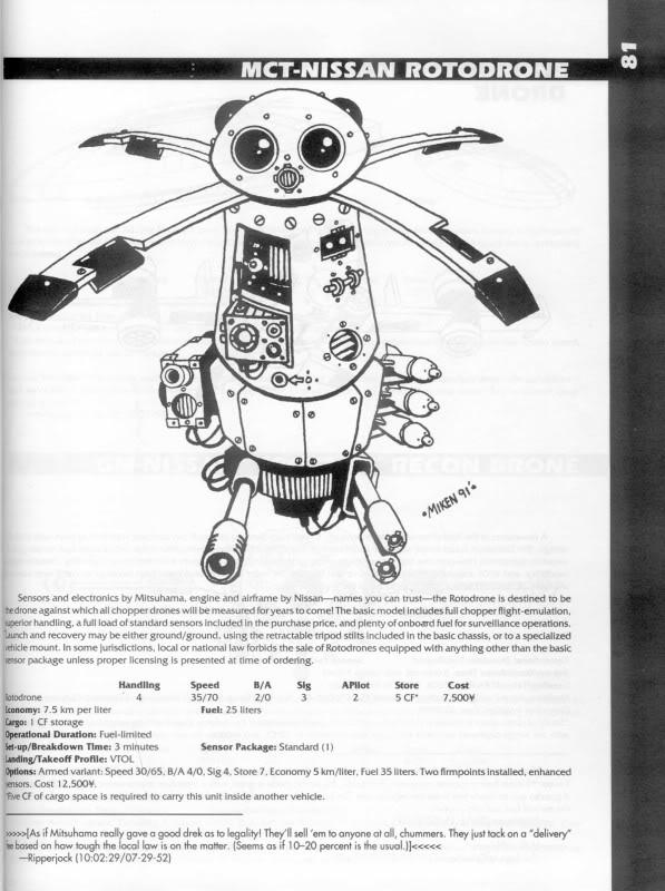 Drone, Mct-nissan Roto Drone, Roto Drone, Shadowrun