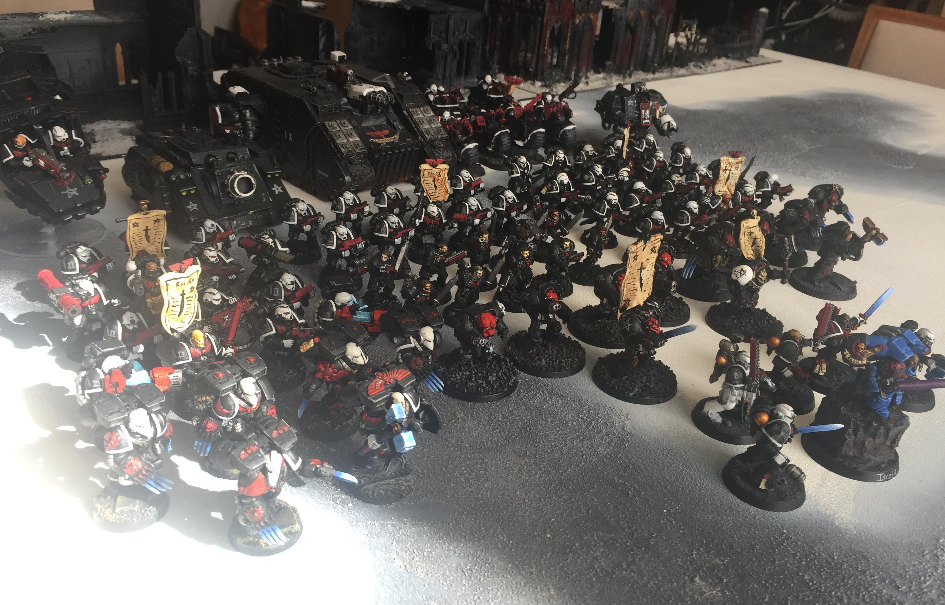 Army, Black, Exorcists, Space Marines, Warhammer 40,000