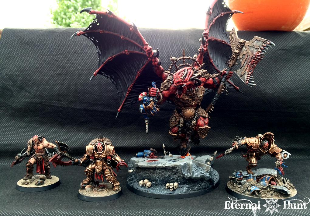 30k, 4th Assault Company, Angron, Daemon-primarch, Daemon-prince, Forge World, Horus Heresy, Khorne, Khorne's Eternal Hunt, Kitbash, Primarch, Warhammer 40,000, World Eaters, Xii Legion