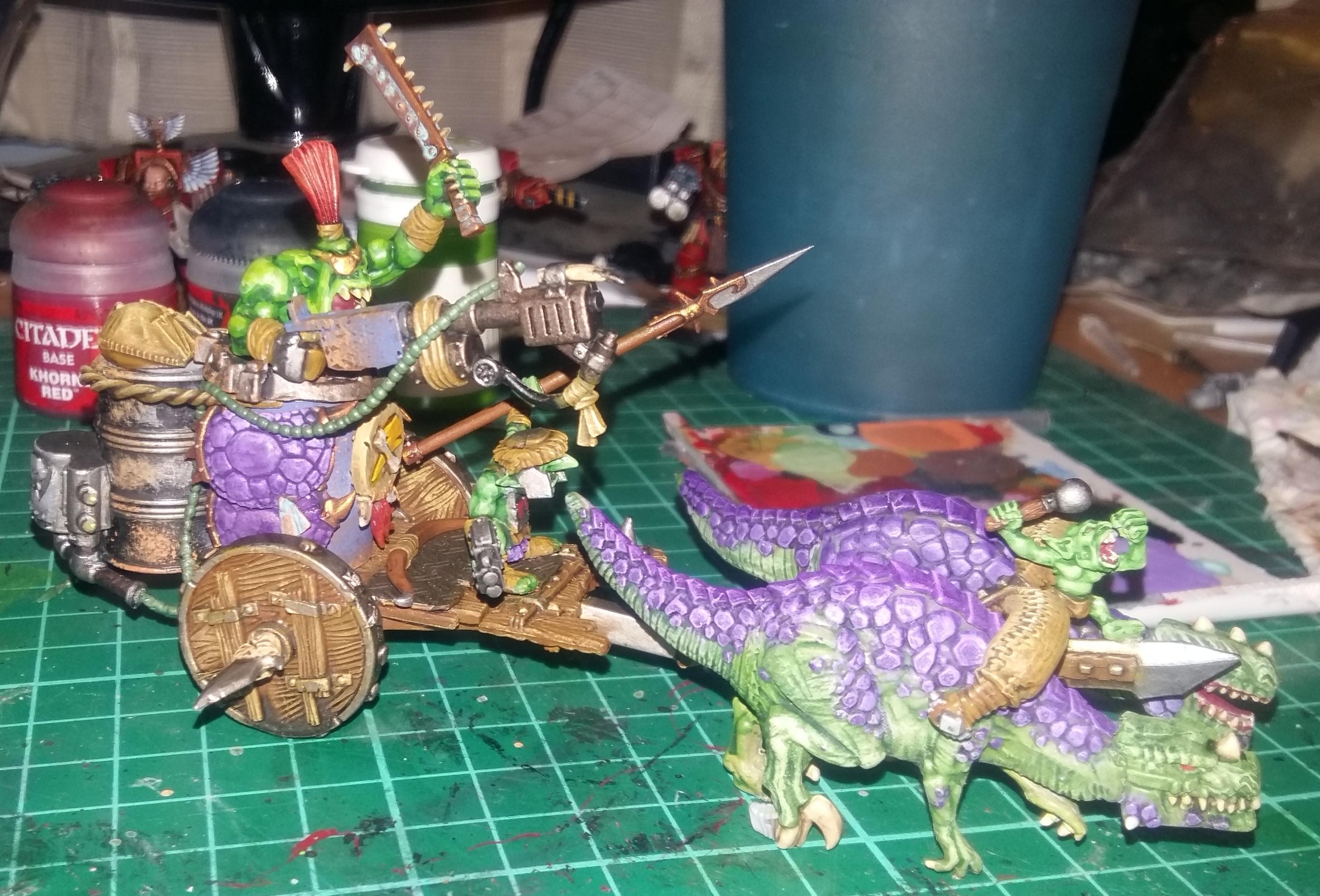 Chariot, Flamer, Orks, Snakebite