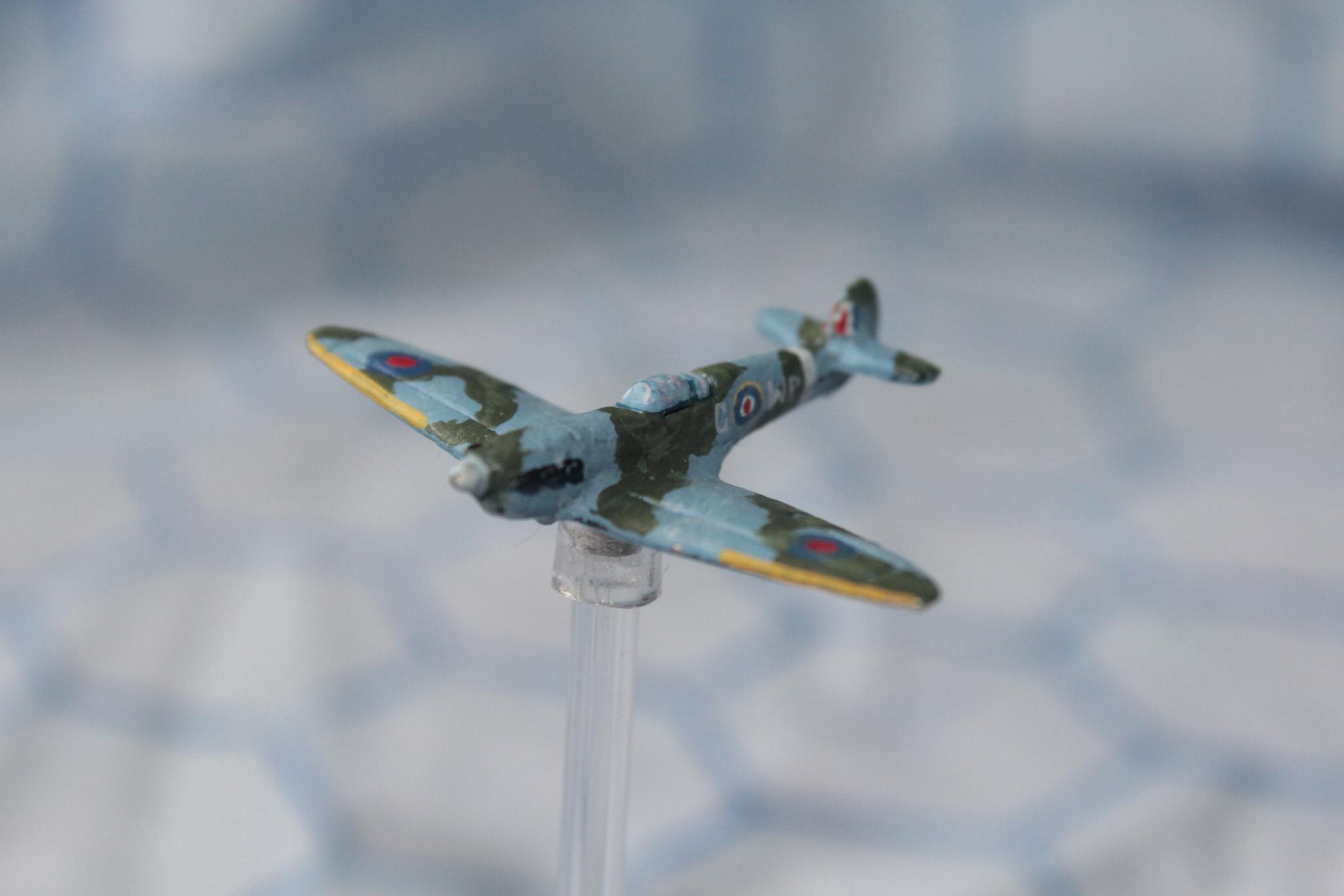 1:300, 6mm, Airborne, Aircraft, Airplane, Aviation, Check Your 6!, Fliers, Planes, Raf, Spitfire, World War 2