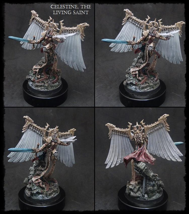 Celestine, Hero, Living Saint, Sisters Of Battle, Special Character, Wargame Exclusive, Warhammer 40,000