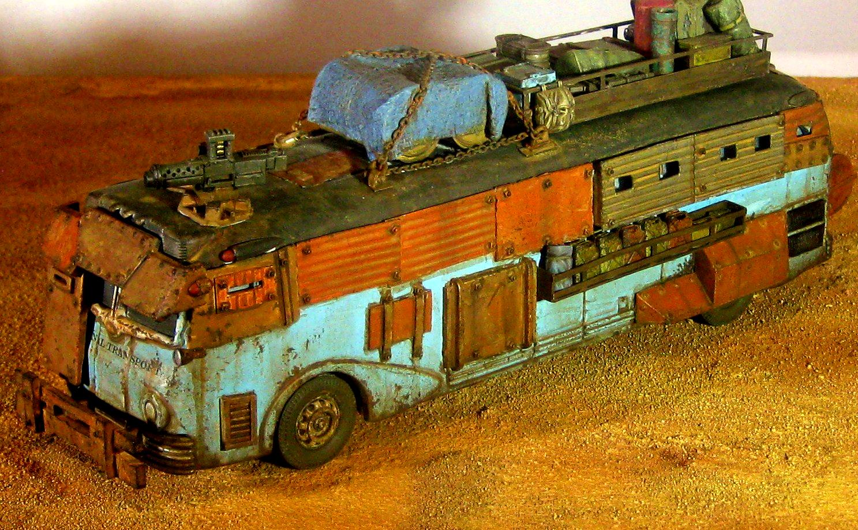 Ash Wastes, Bus, Civilian, Fallout, Post Apocalypse, Raiders, Truck