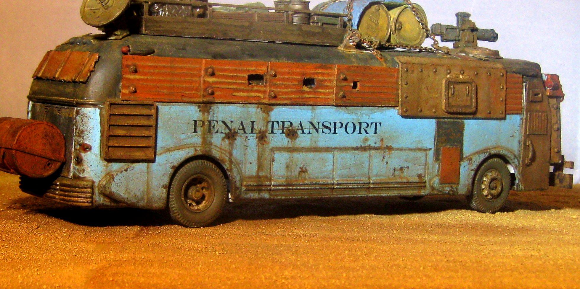 Ash Wastes, Bus, Fallout, Post Apocalypse, Raiders