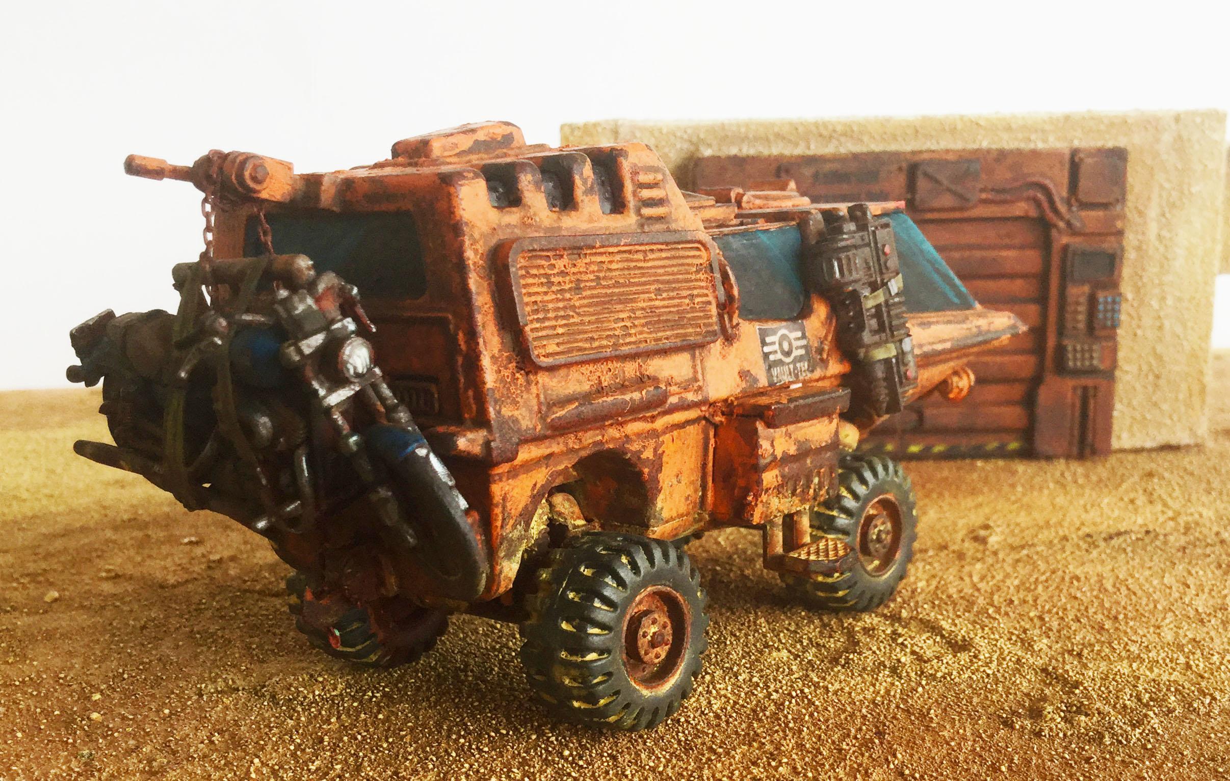Armored Car, Ash Wastes, Civilian, Fallout, Post Apocalypse, Raiders