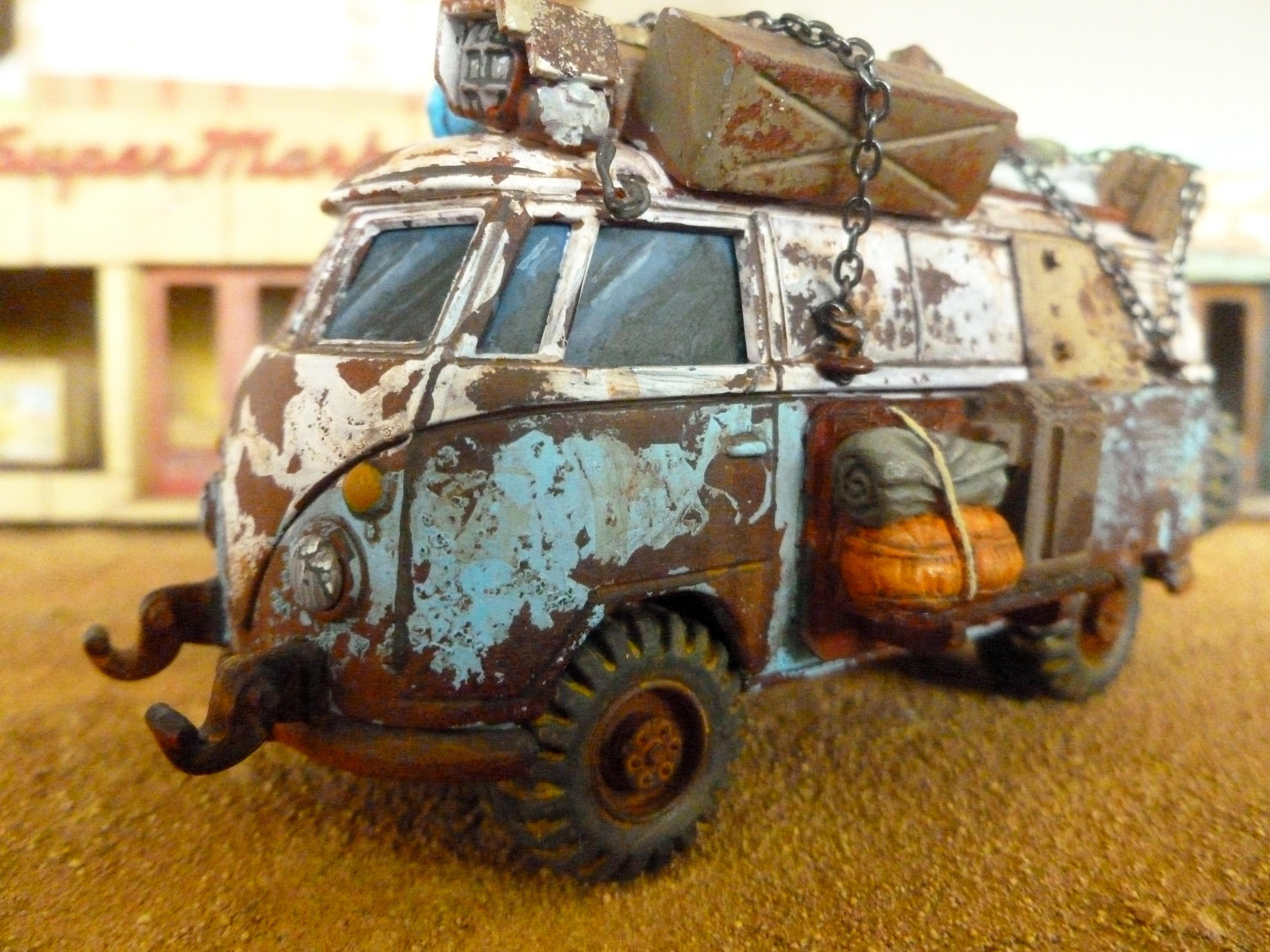 Cars, Civilian, Post Apocalypse, Van