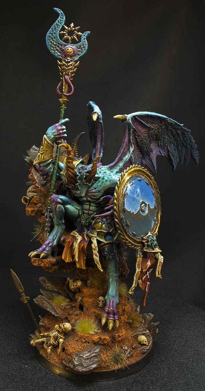 Age Of Sigmar, Chaos, Conversion, Daemons, Freehand, Mirror, Prince, The Teal Prince, Throne, Tzeentch