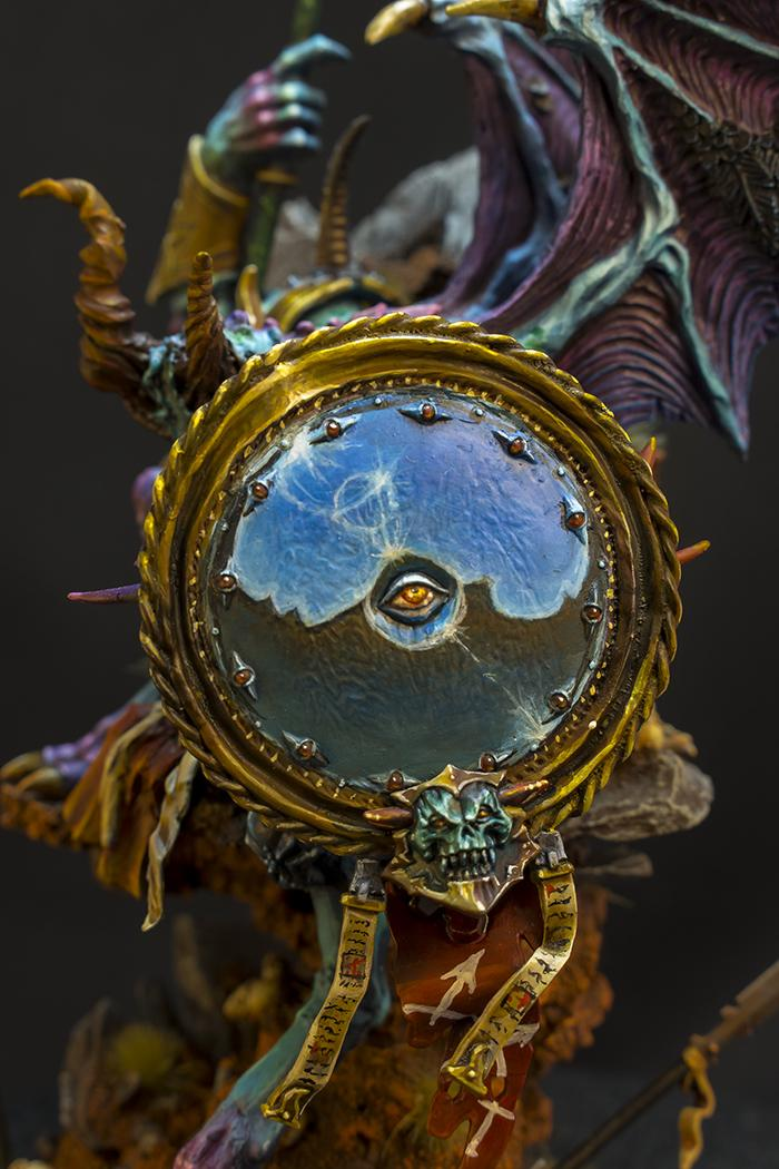Age Of Sigmar, Chaos, Conversion, Daemons, Freehand, Mirror, Prince, The Teal Prince, Tzeentch