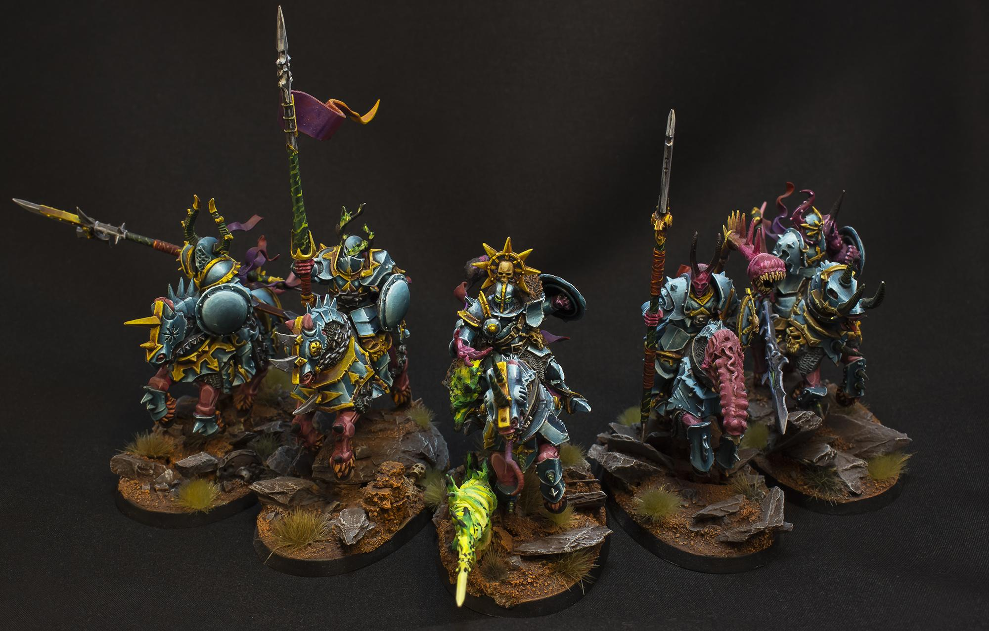 Age Of Sigmar, Chaos, Chaos Lnights, Conversion, Knights, Tzeentch, Warriors Of Chaos
