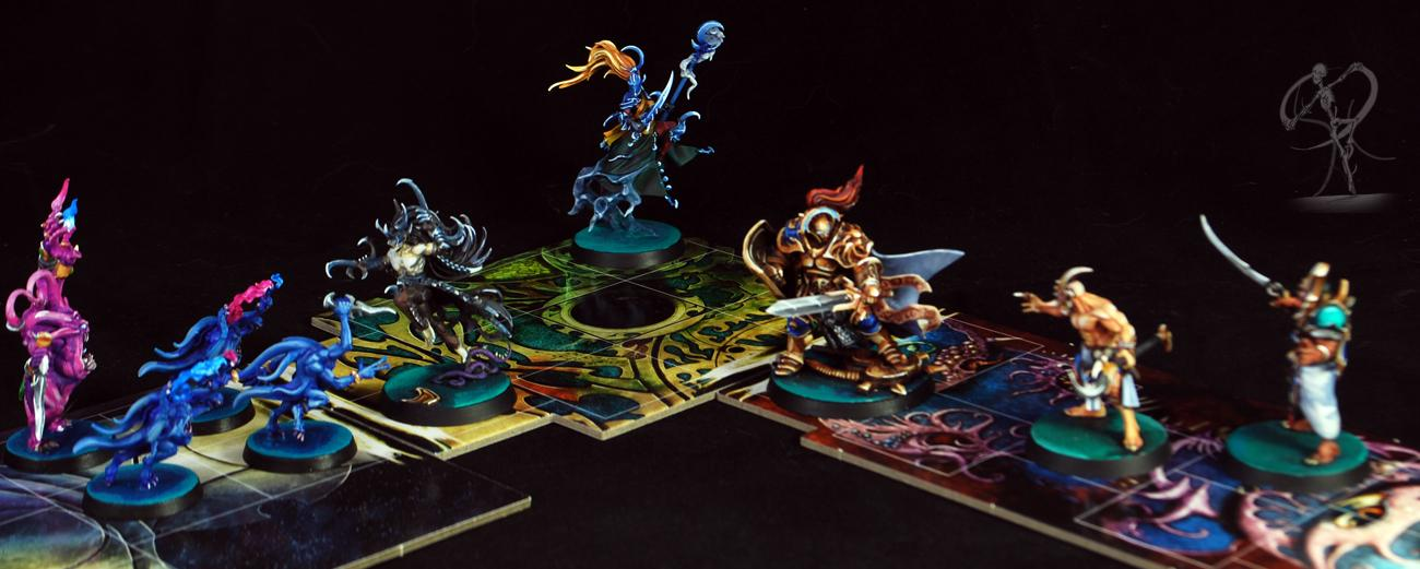 Age Of Sigmar, Daemons, Elves, Horrors, Kairic Acolytes, Mistweaver Siah, Non-Metallic Metal, Silver Tower, Stormcast, Tzeentch, Warhammer Fantasy, Warhammer Quest
