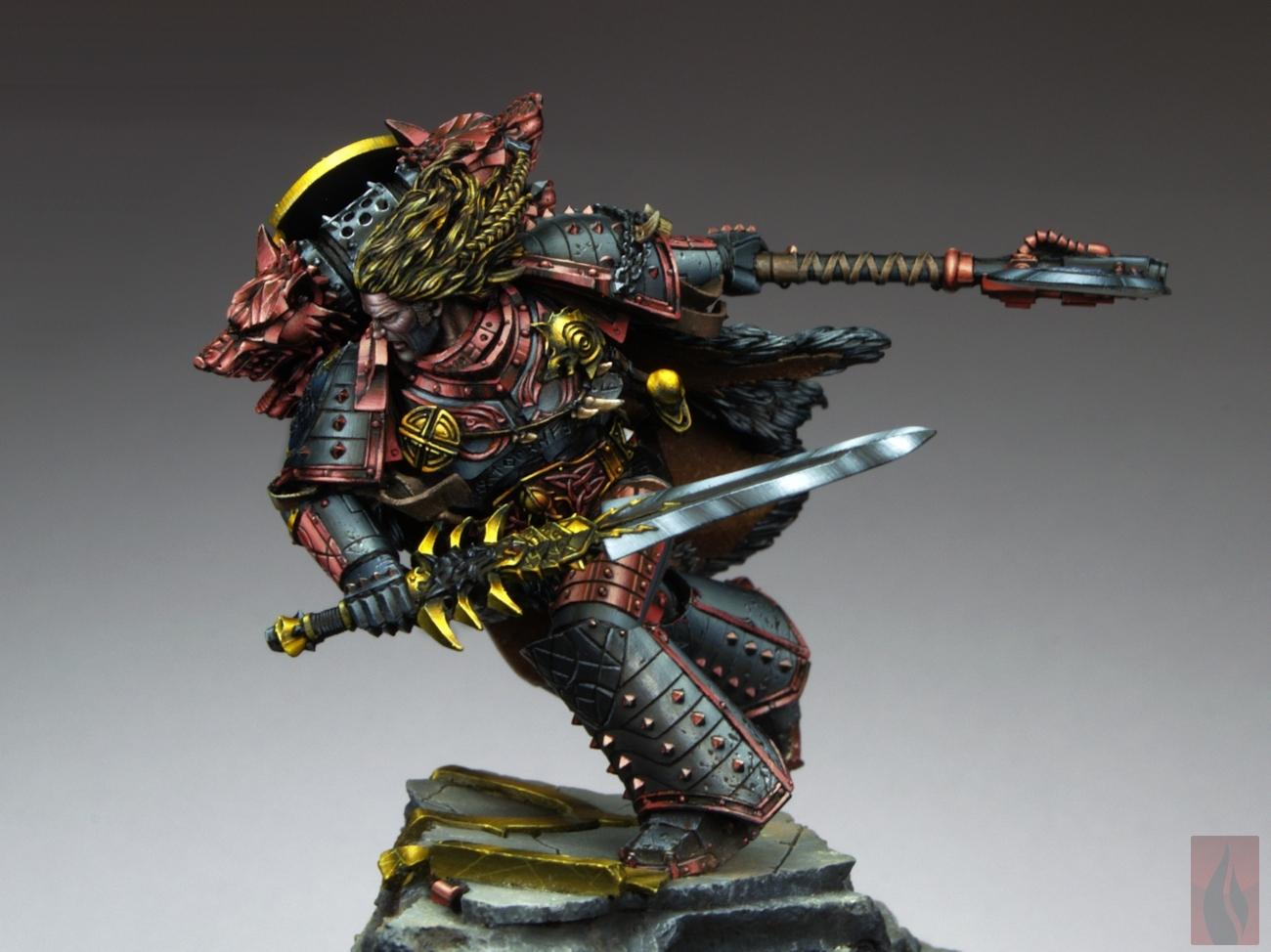 Leman Russ, Primarch, Pro-painted, Space Wolves