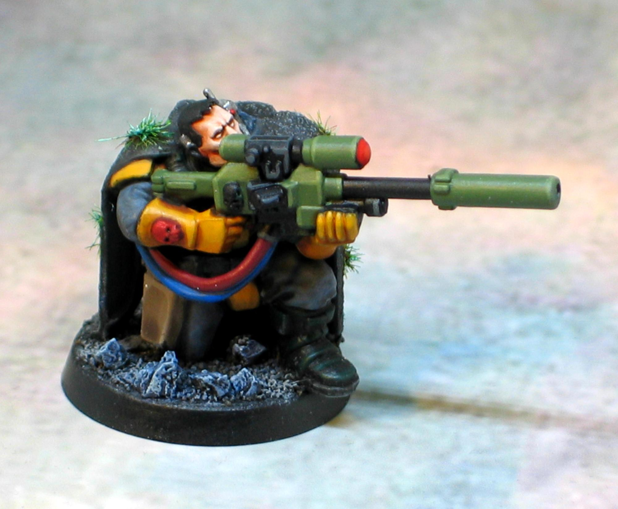 Camo Cloak, Sniper Rifle, Space Marine Scout, Space Marines