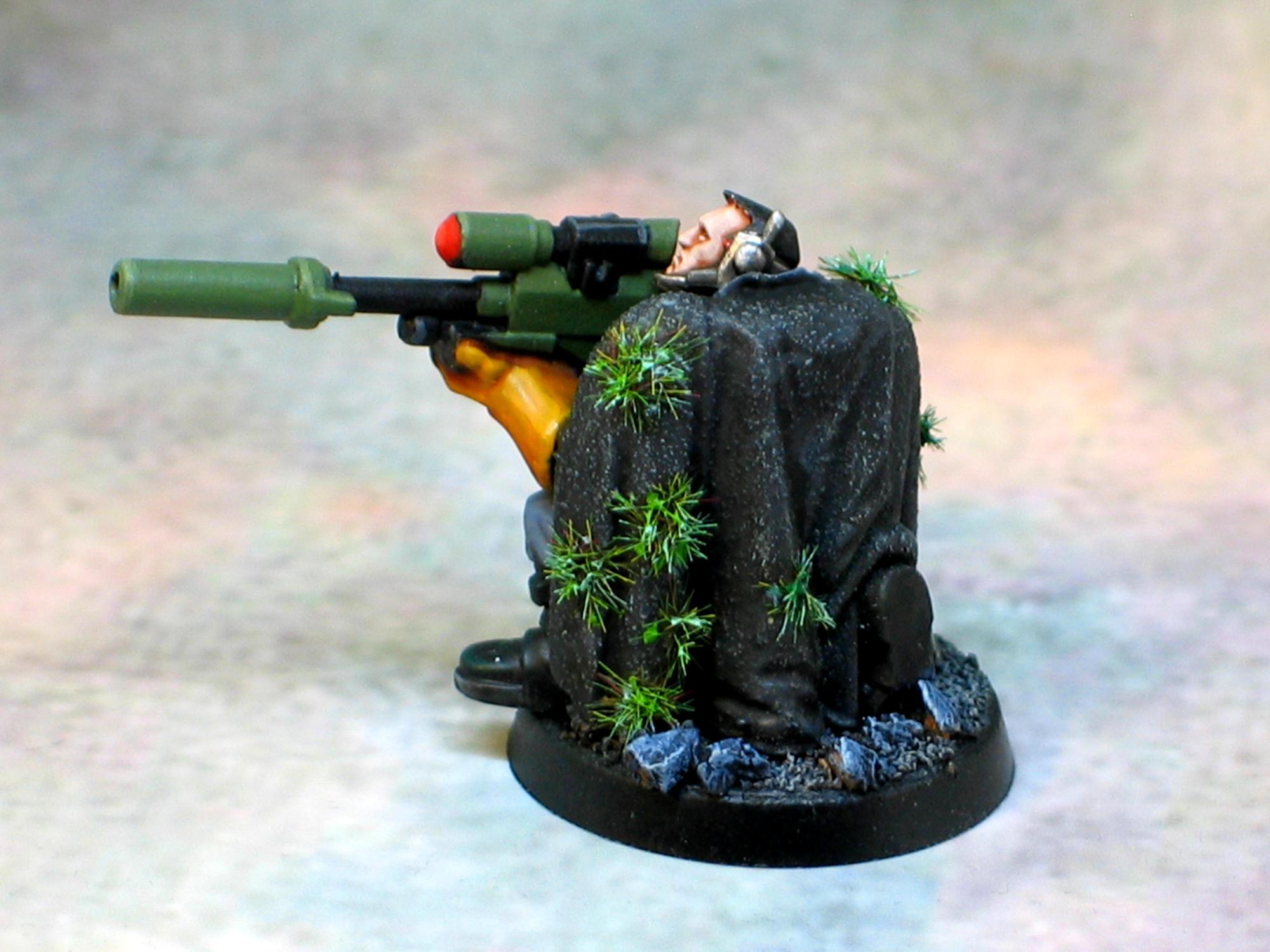 Camo Cloak, Sniper Rifle, Space Marine Scout, Space Marines